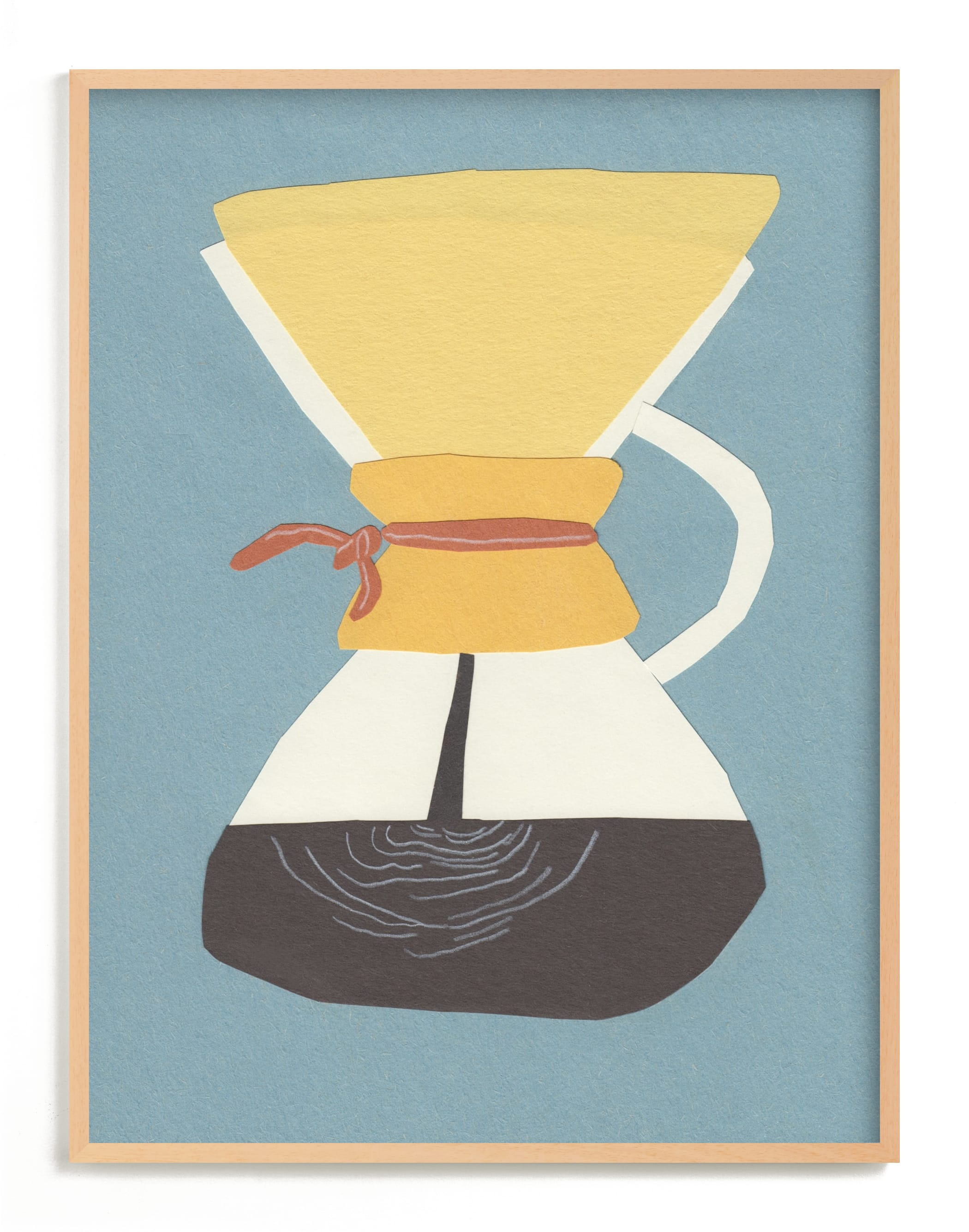 """Chemex"" - Limited Edition Art Print by Elliot Stokes in beautiful frame options and a variety of sizes."