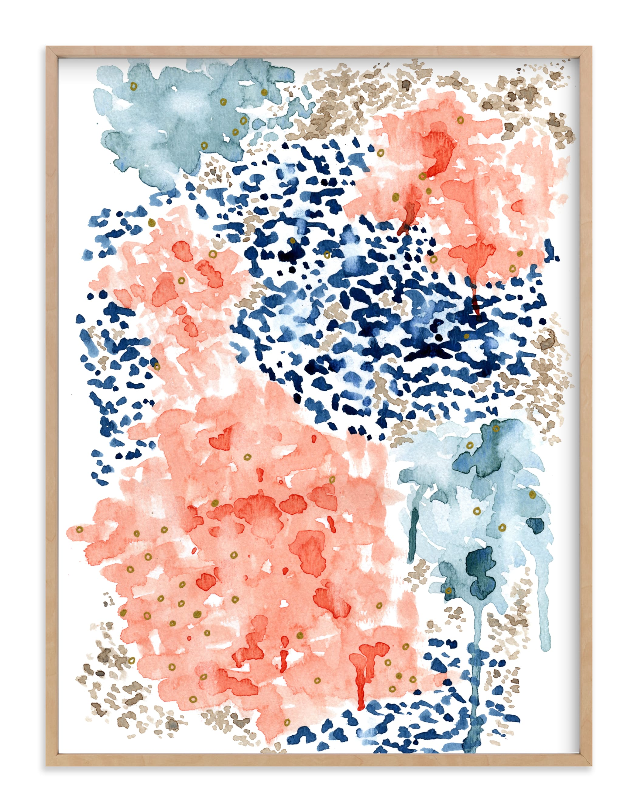"""""""Flutter Watercolor"""" - Limited Edition Art Print by Andi Pahl in beautiful frame options and a variety of sizes."""