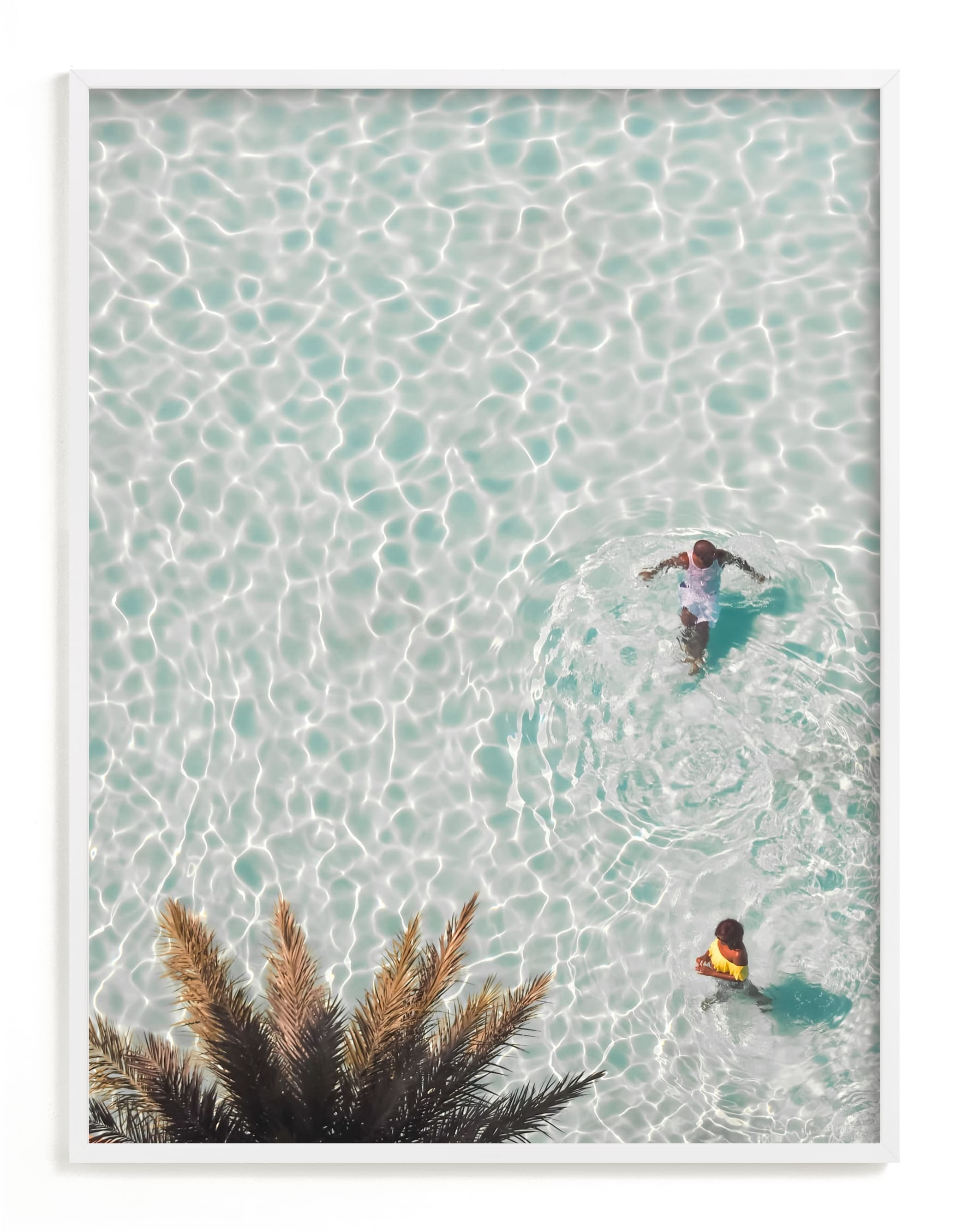 """""""Pool Party for Two"""" - Limited Edition Art Print by KIMBERLY SMITH in beautiful frame options and a variety of sizes."""