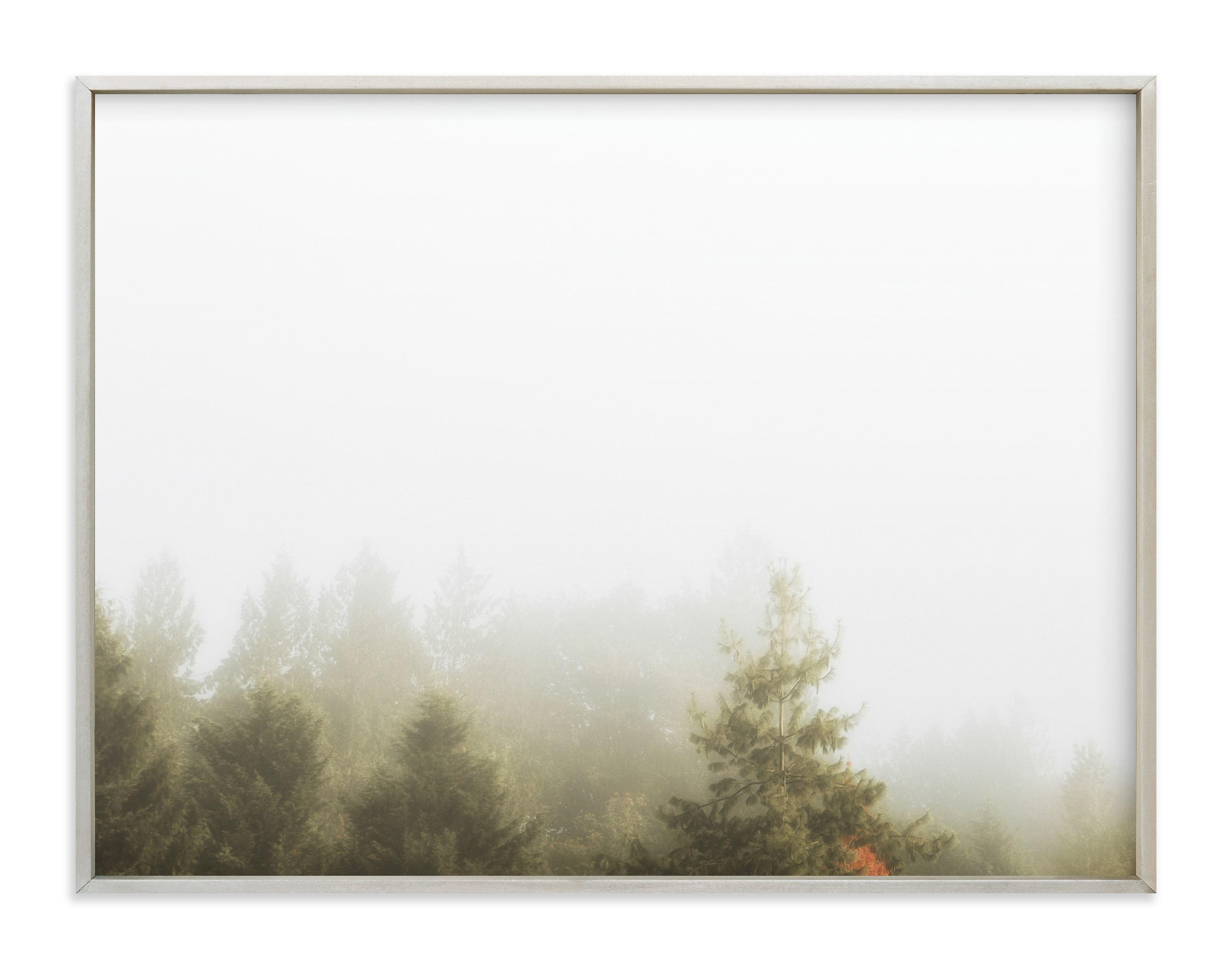 """Foggy Autumn Forest Morning"" - Limited Edition Art Print by Katie Buckman in beautiful frame options and a variety of sizes."