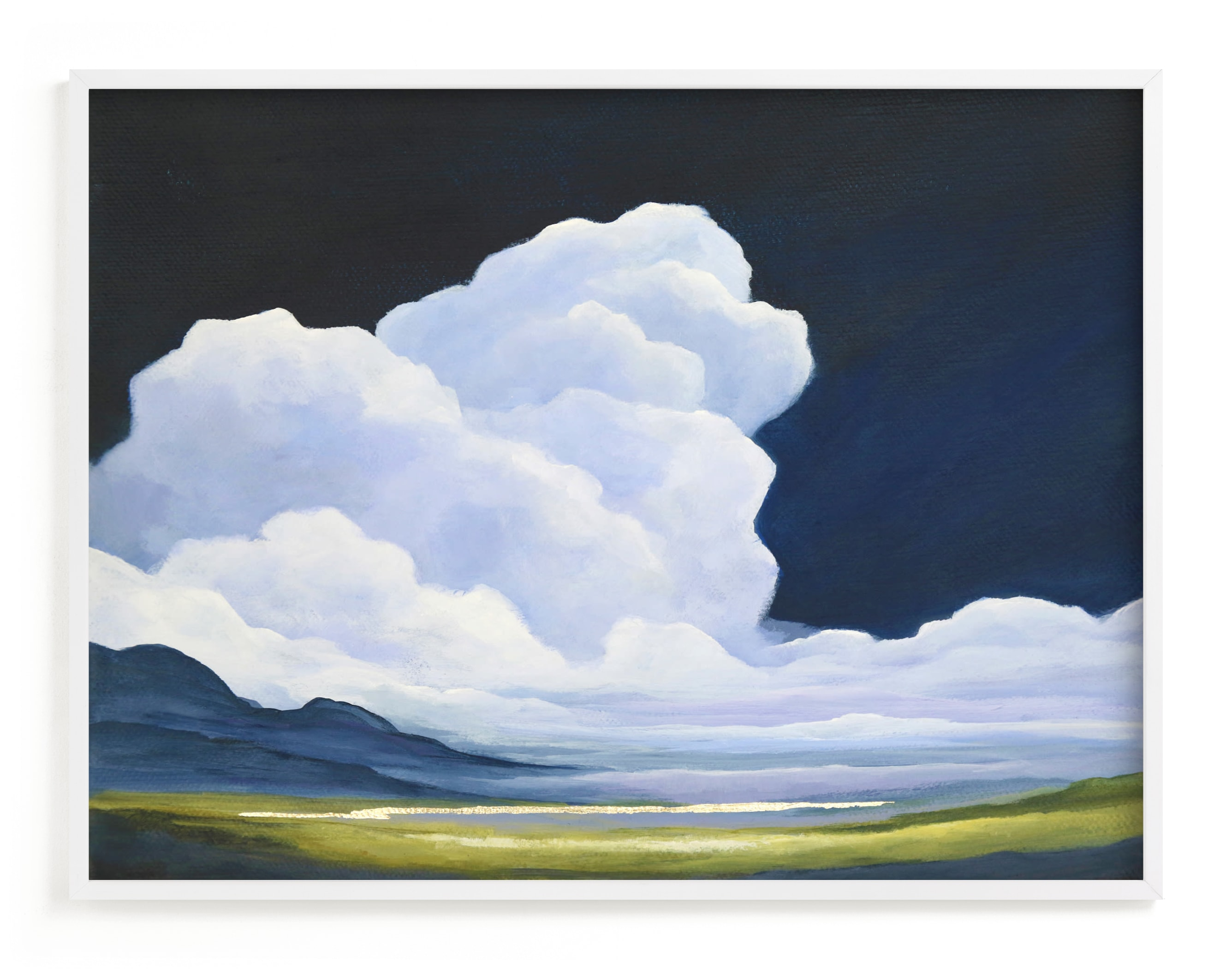 """""""Porcelain Sky"""" - Limited Edition Art Print by Mya Bessette in beautiful frame options and a variety of sizes."""