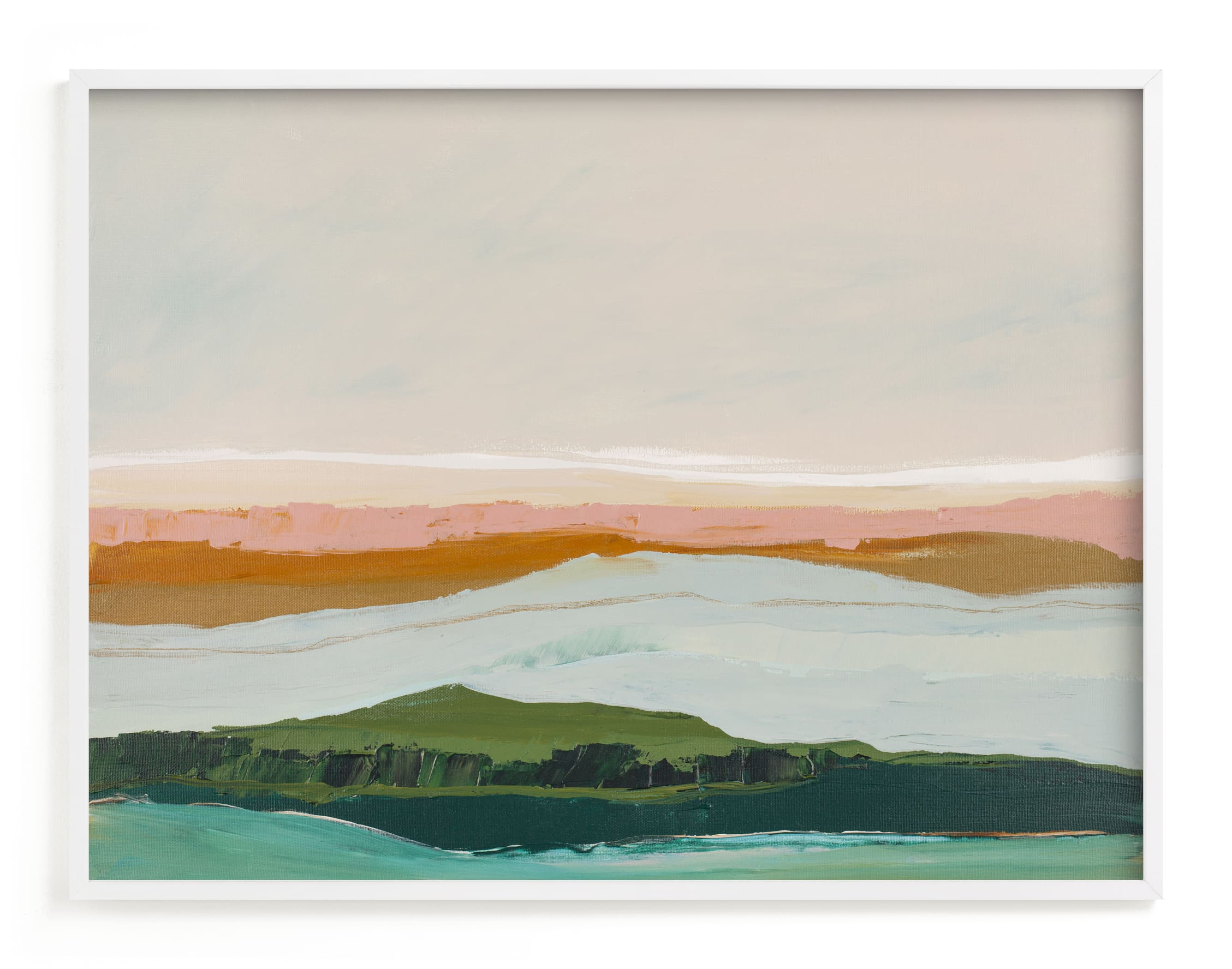 """""""Abstract Seascape Pt Reyes, California"""" - Art Print by Caryn Owen in beautiful frame options and a variety of sizes."""