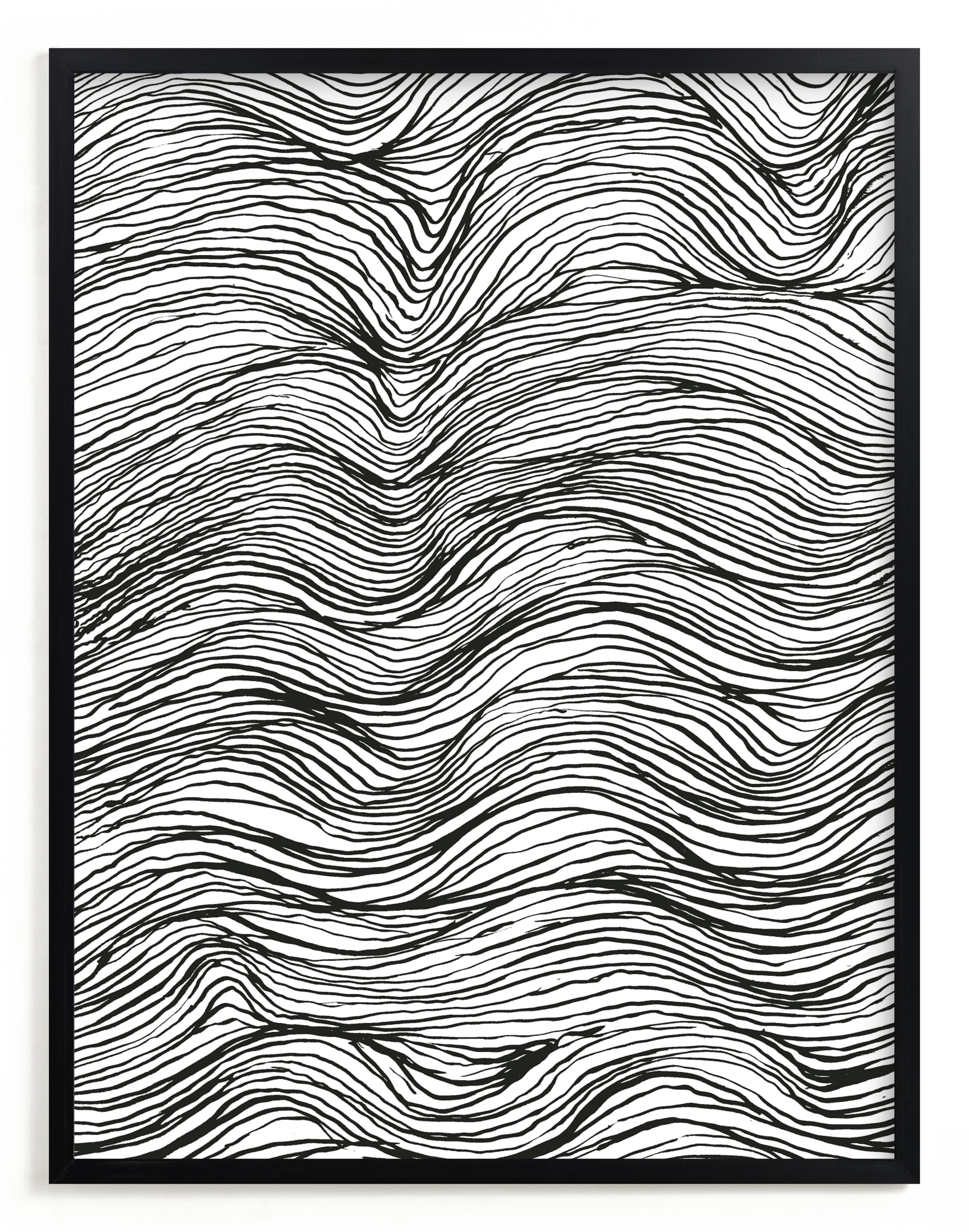 """""""Ebb and Flow Ink Lines"""" - Limited Edition Art Print by Elliot Stokes in beautiful frame options and a variety of sizes."""