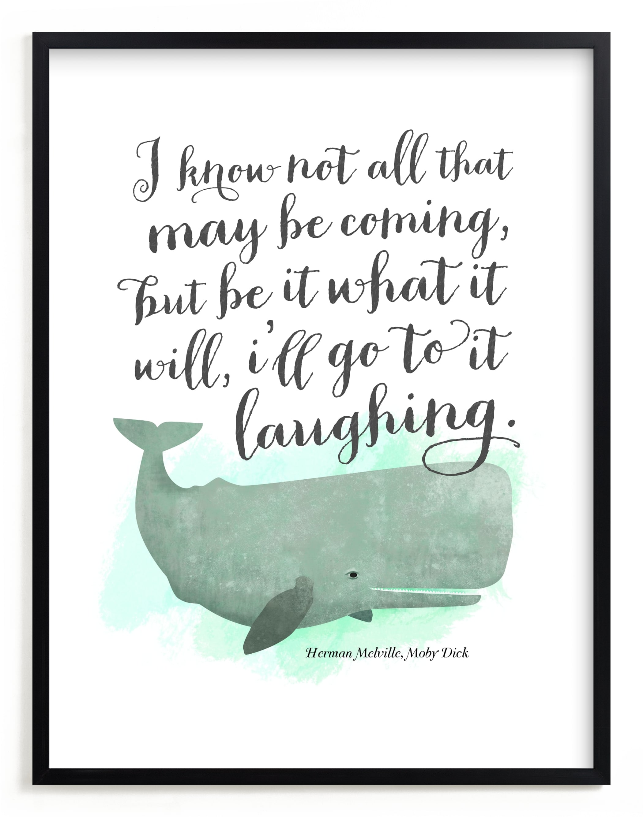 """""""Go to it Laughing"""" - Limited Edition Art Print by Ann Gardner in beautiful frame options and a variety of sizes."""