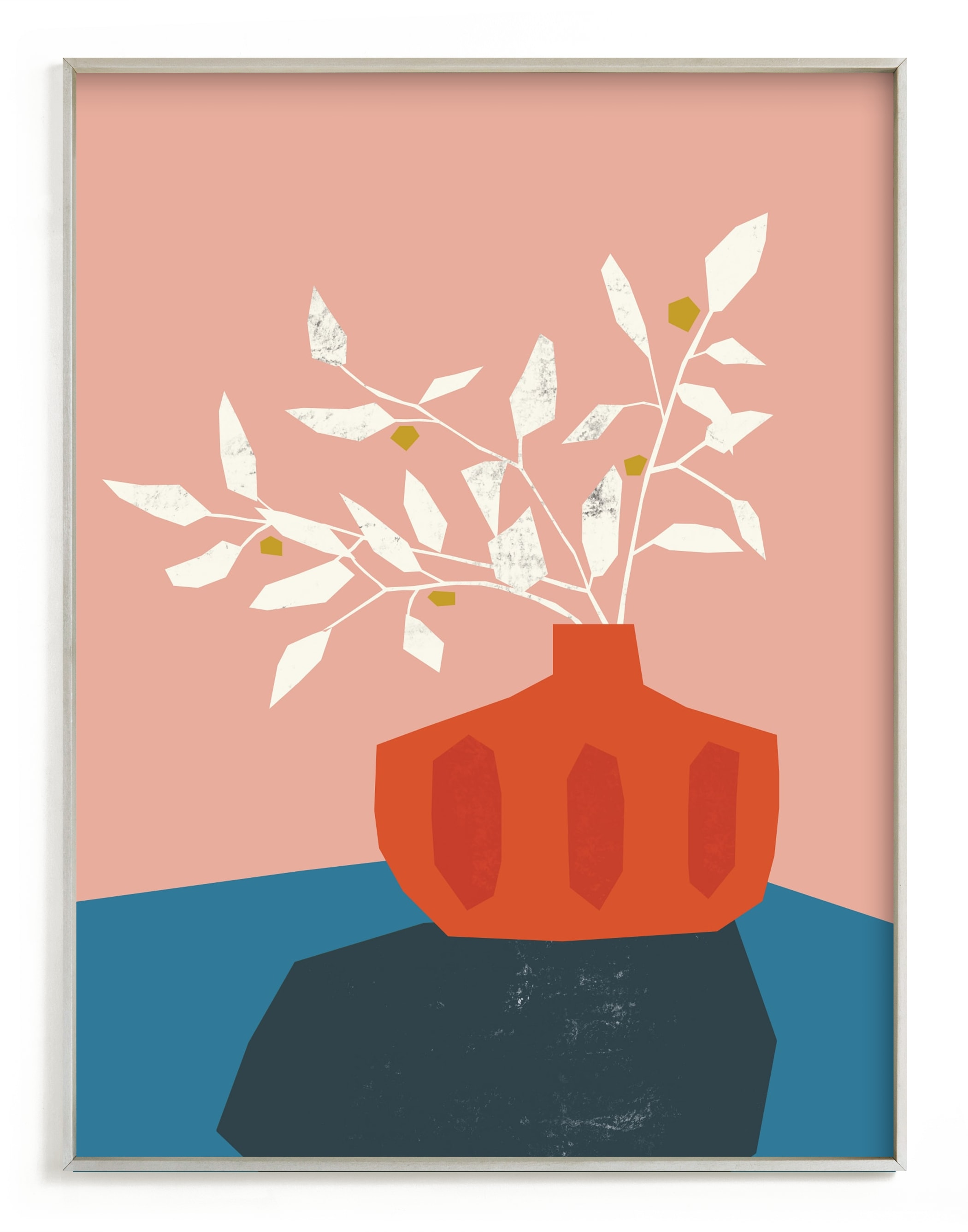 """""""Mid Century Vase"""" - Limited Edition Art Print by Morgan Kendall in beautiful frame options and a variety of sizes."""