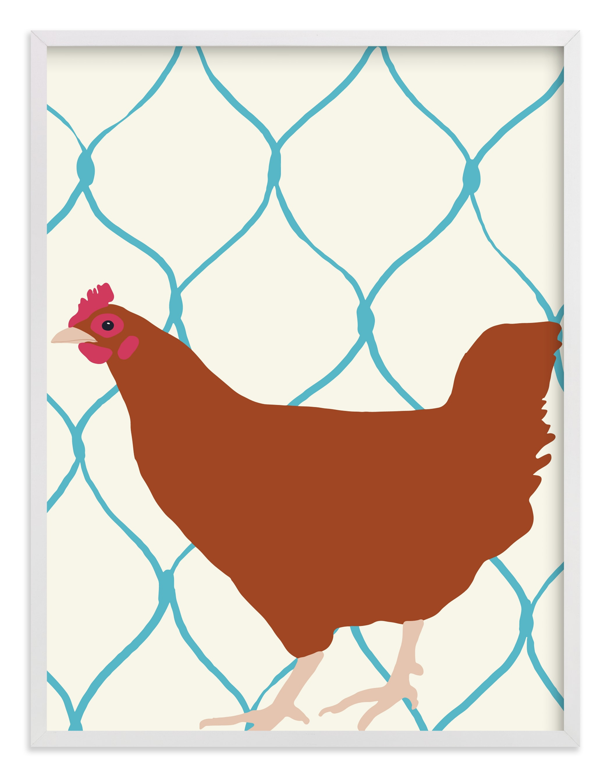 """""""Rhode Island Red"""" - Limited Edition Art Print by Jorey Hurley in beautiful frame options and a variety of sizes."""