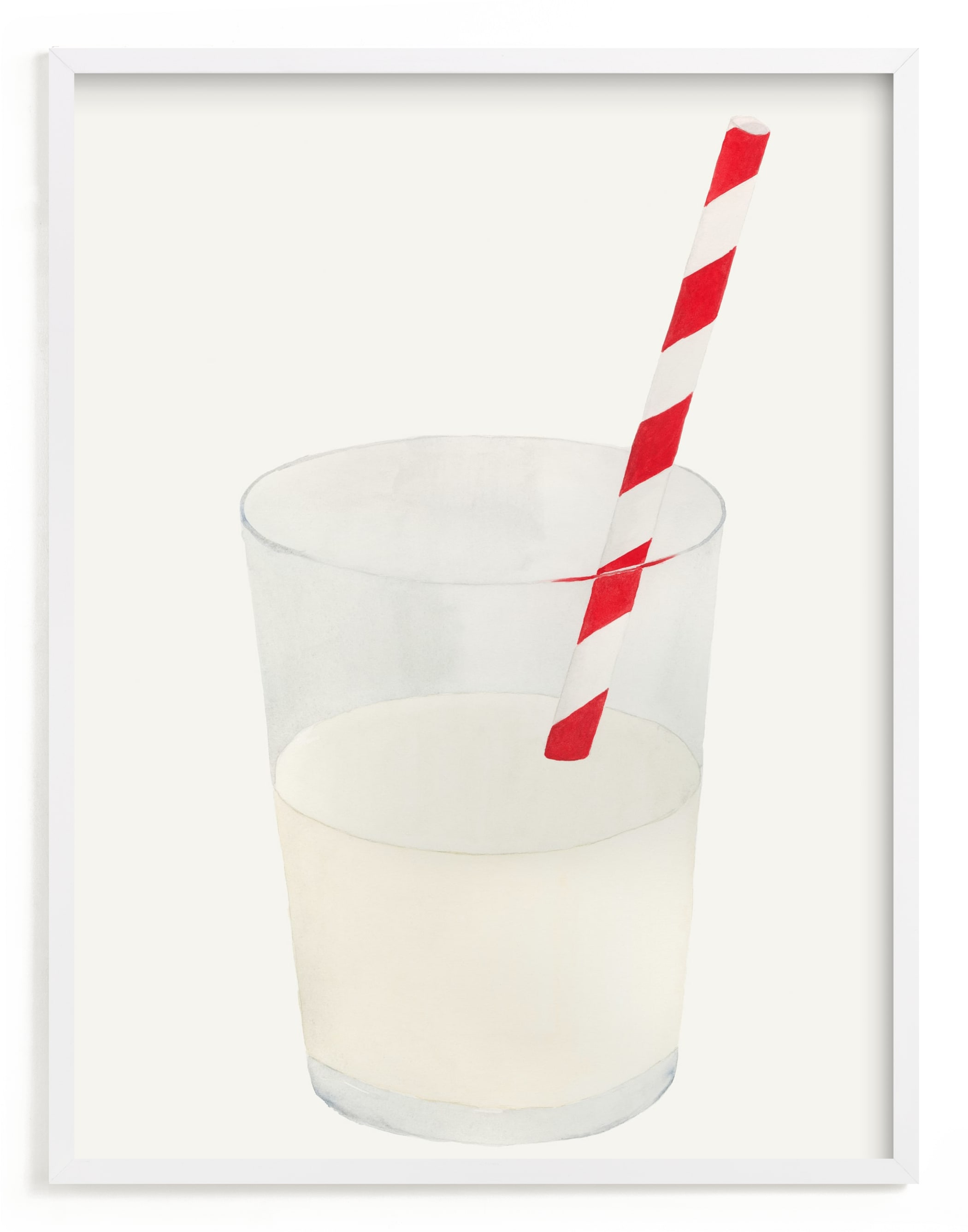 """""""Whole Milk"""" - Limited Edition Art Print by Monica Loos in beautiful frame options and a variety of sizes."""