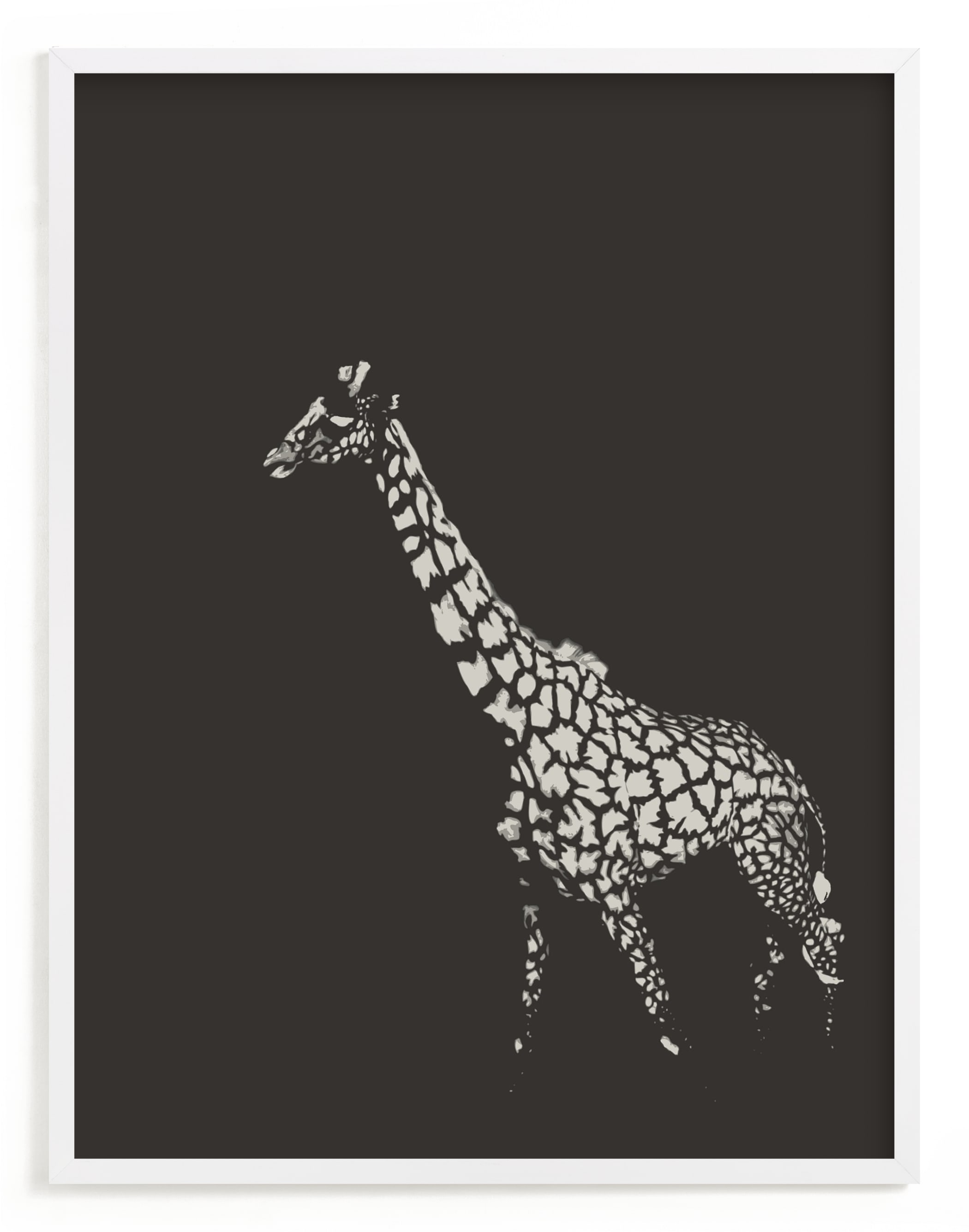"""fading giraffe"" - Limited Edition Art Print by Erin Niehenke in beautiful frame options and a variety of sizes."