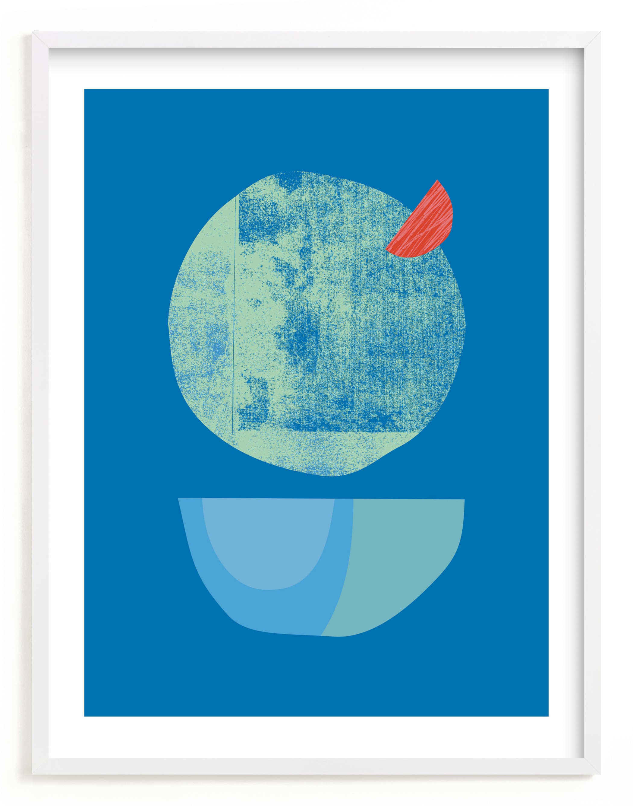 """Blue Garnish"" - Limited Edition Art Print by sue prue in beautiful frame options and a variety of sizes."