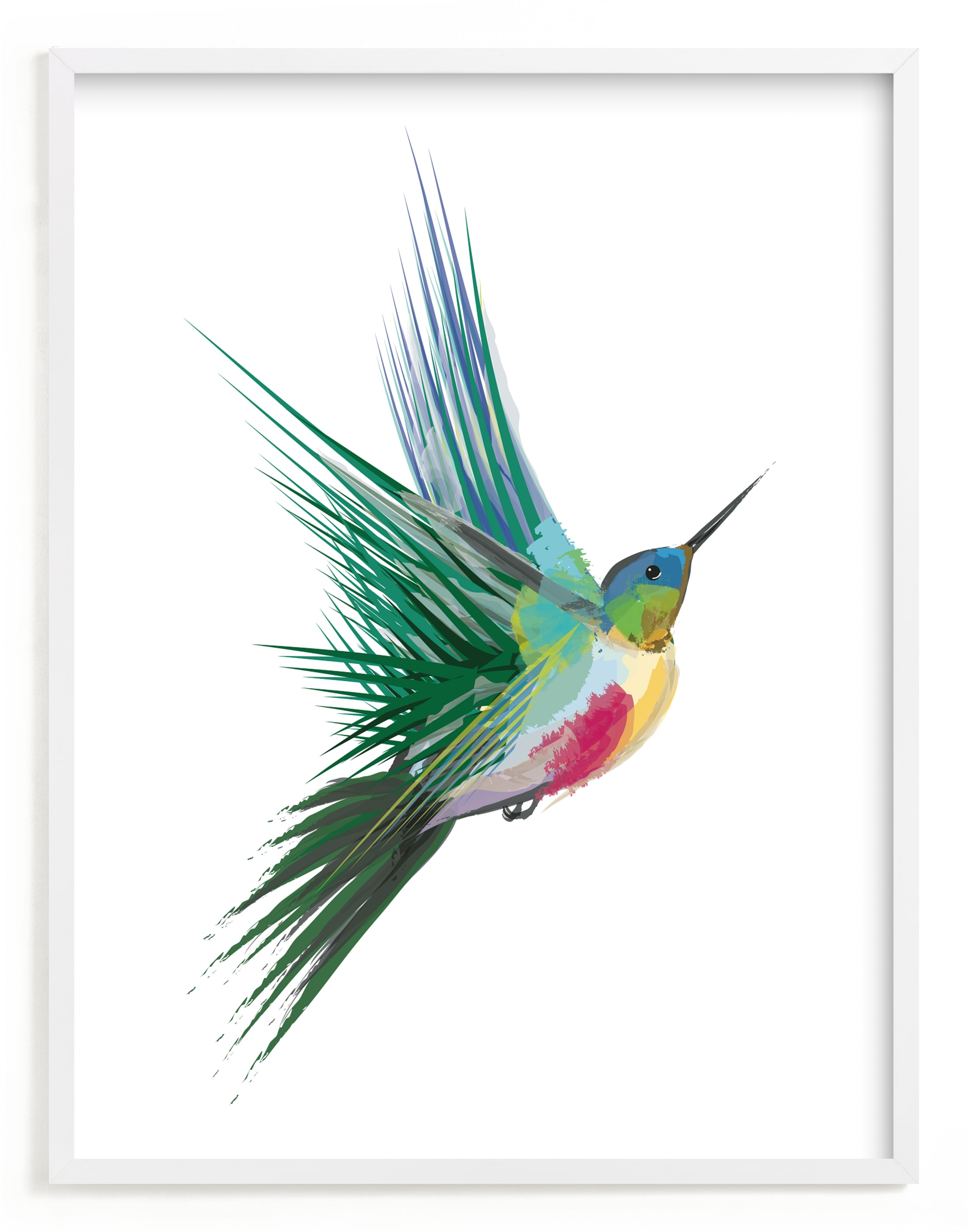 """""""hummingbird"""" - Limited Edition Art Print by Sara Shashani in beautiful frame options and a variety of sizes."""