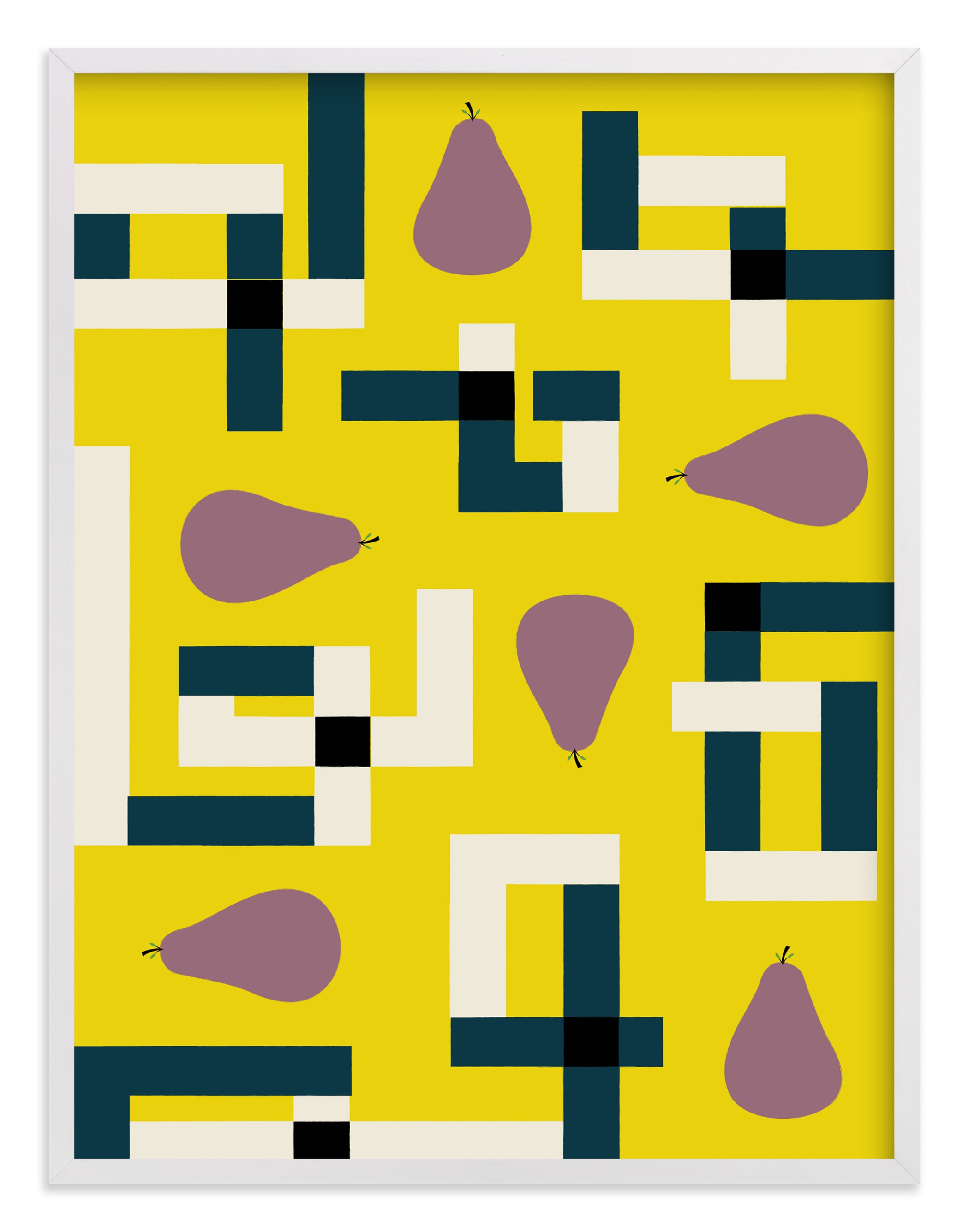 """""""Plum Puzzle"""" - Limited Edition Art Print by Morgan Ramberg in beautiful frame options and a variety of sizes."""