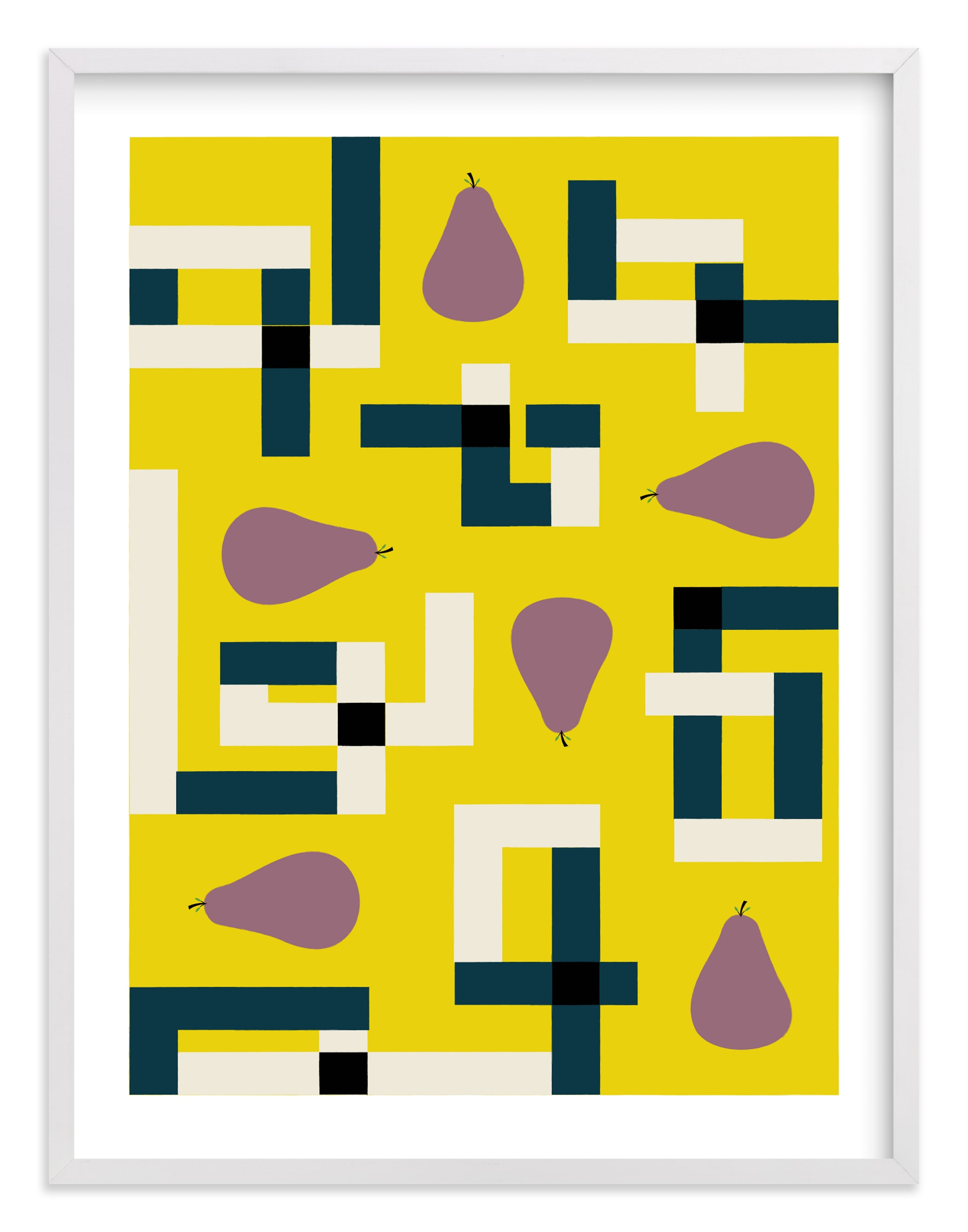 """Plum Puzzle"" - Limited Edition Art Print by Morgan Ramberg in beautiful frame options and a variety of sizes."