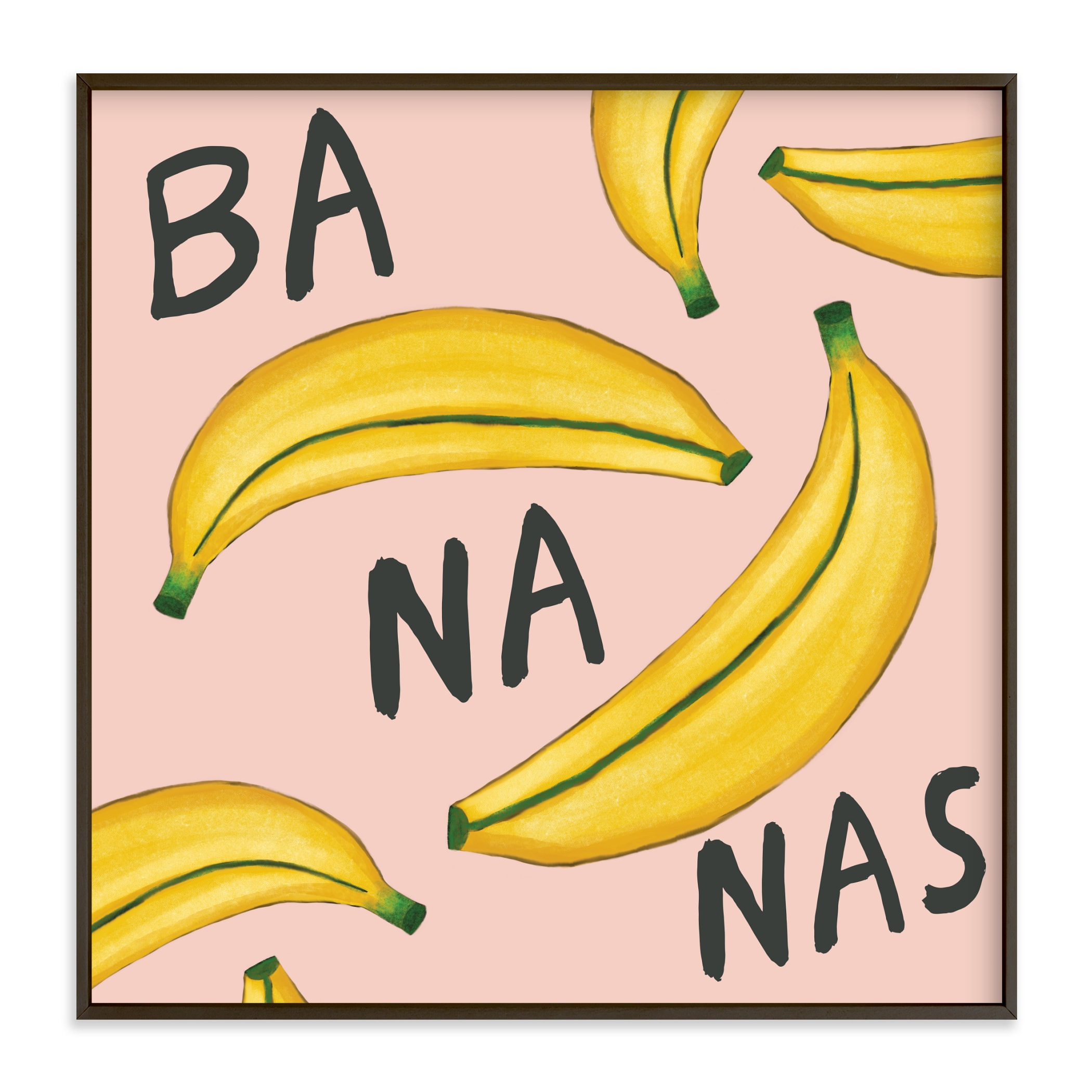 """""""That's Ba-Na-Nas"""" by Paper Dahlia in beautiful frame options and a variety of sizes."""