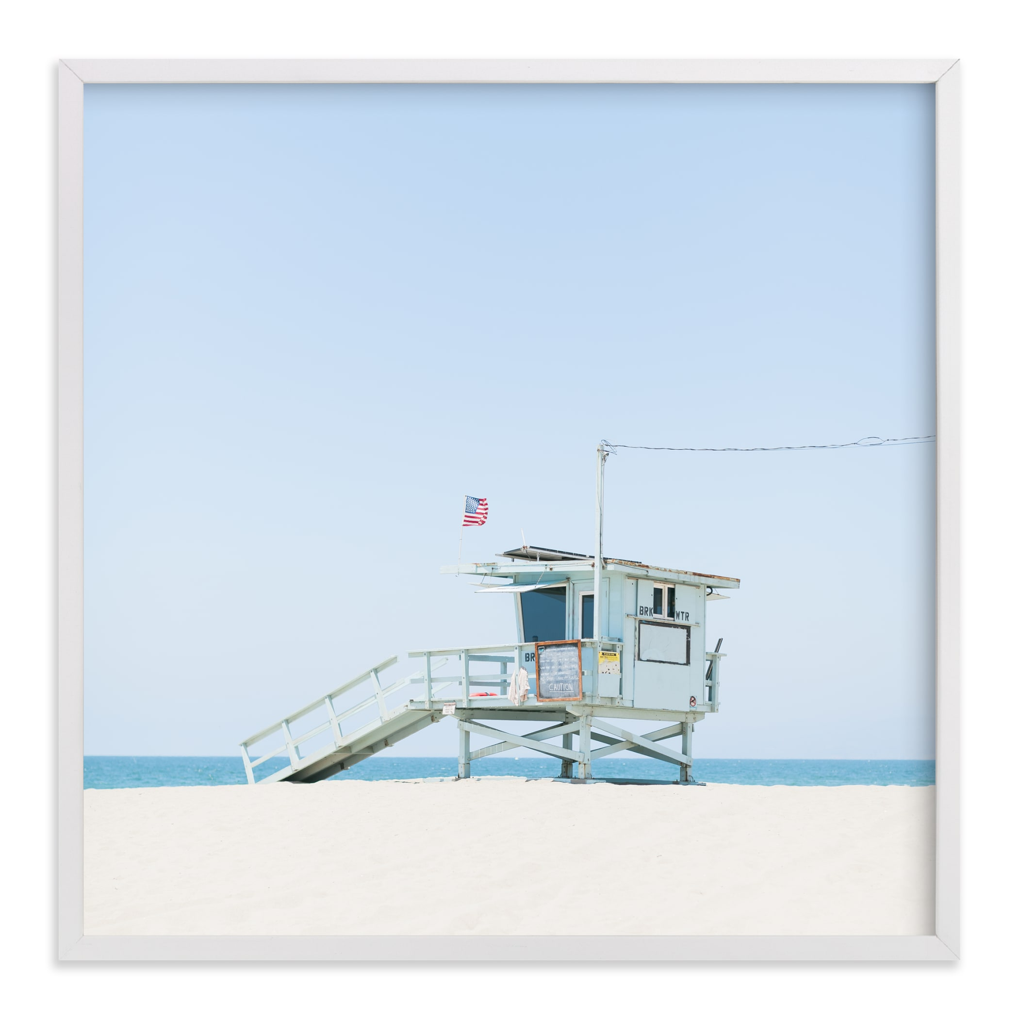 """""""Venice Beach"""" - Limited Edition Art Print by Jessica C. Nugent in beautiful frame options and a variety of sizes."""