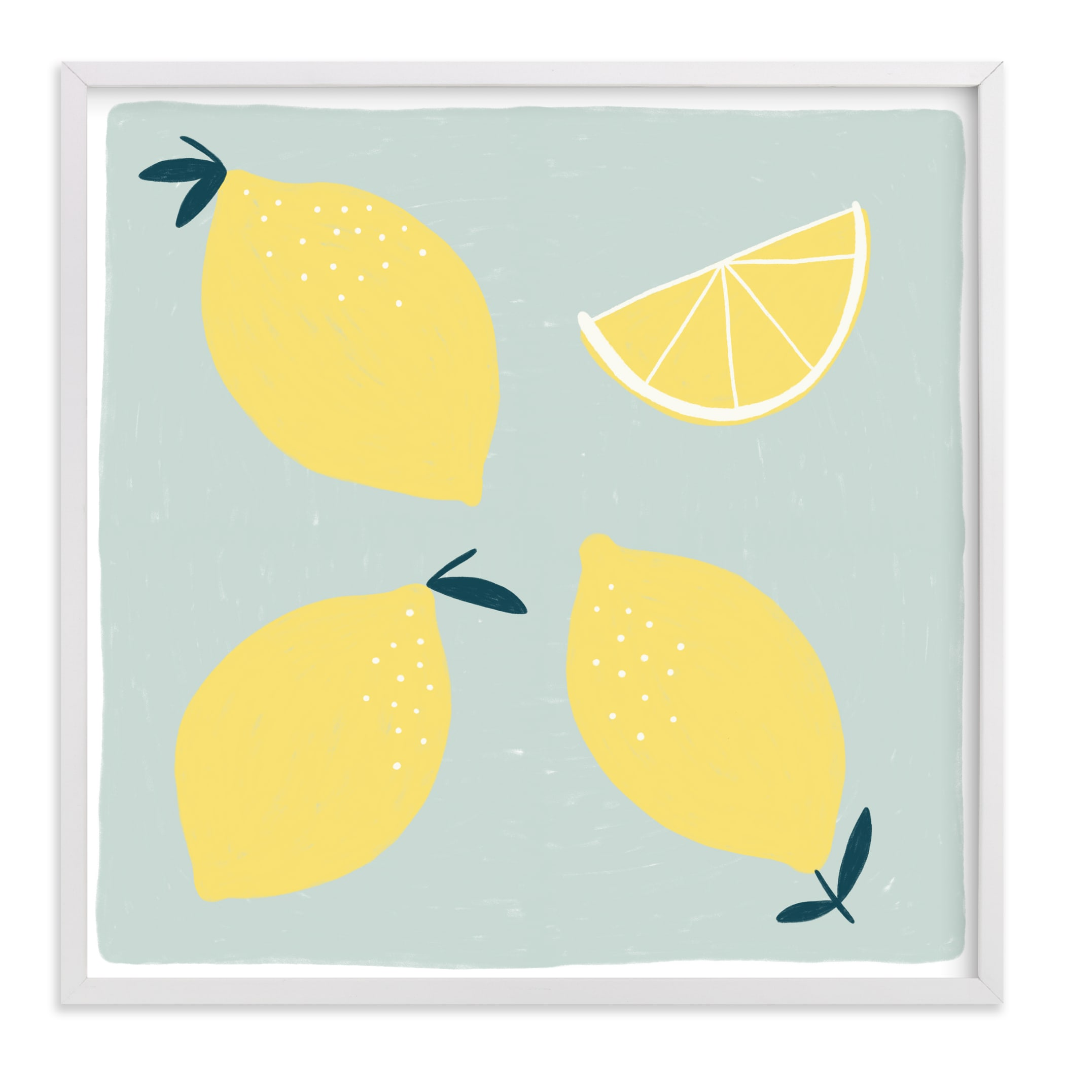 """Lemon Wedge"" - Limited Edition Art Print by Betsy Siber in beautiful frame options and a variety of sizes."