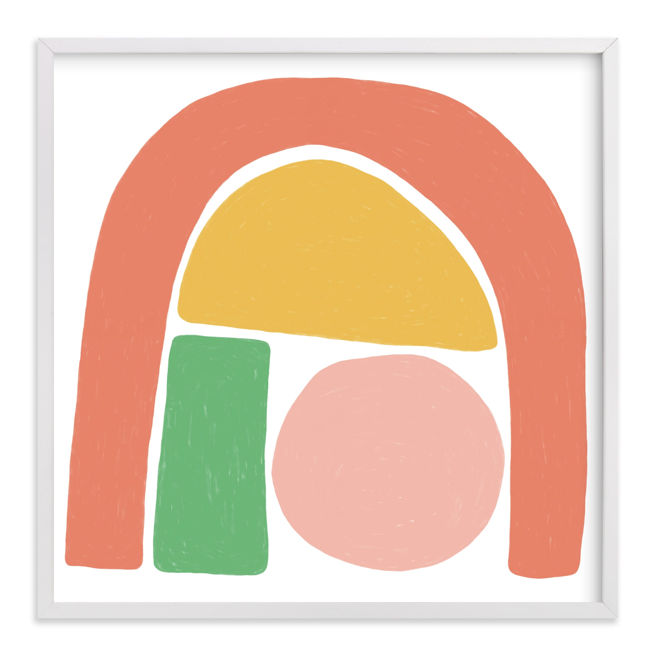 """""""Undercover Shapes"""" - Limited Edition Art Print by Betsy Siber in beautiful frame options and a variety of sizes."""