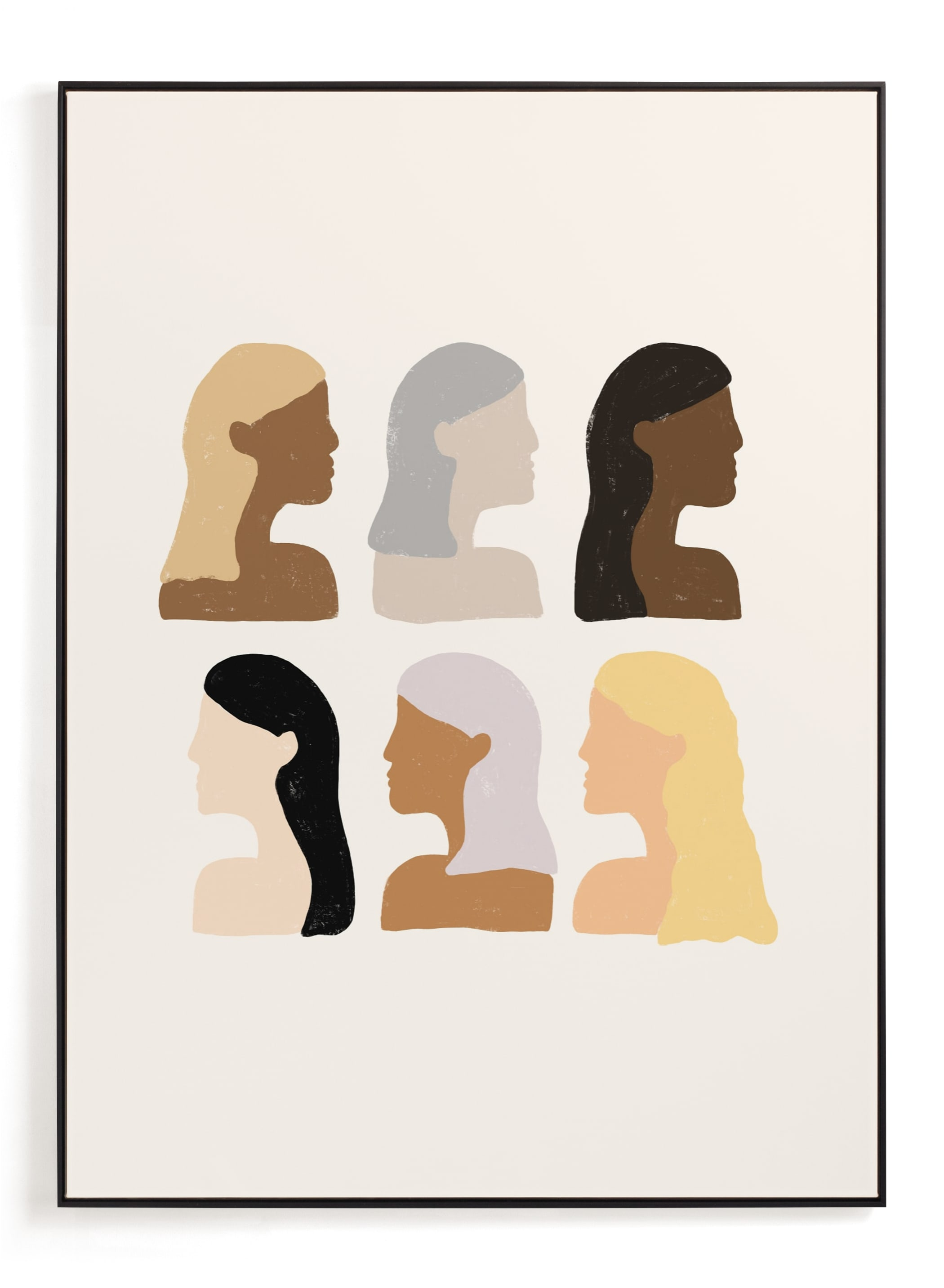 """""""Girls Support Girls"""" - Limited Edition Art Print by Amanda Houston in beautiful frame options and a variety of sizes."""