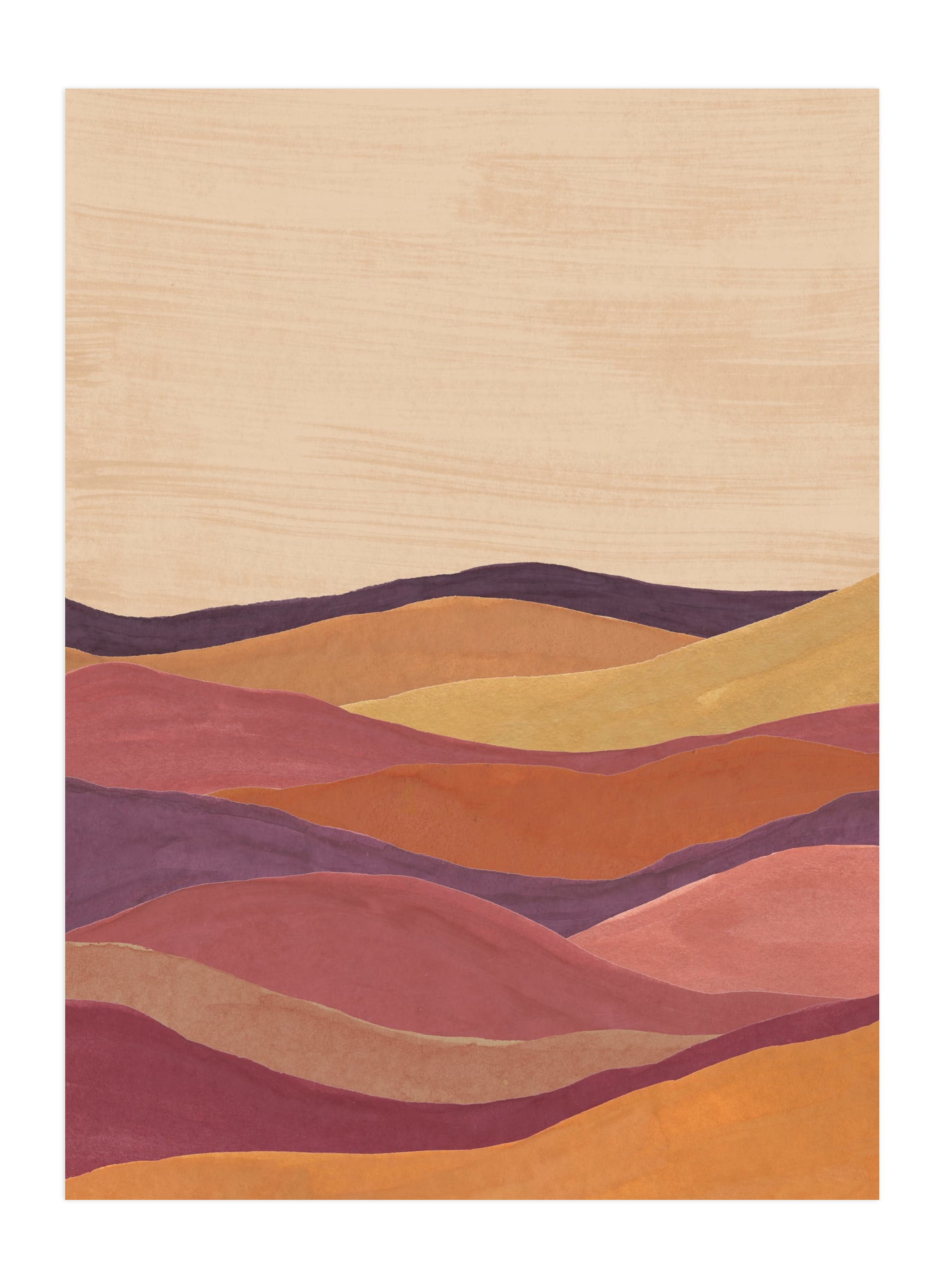 """""""Desert layers"""" - Limited Edition Art Print by Annie Shapiro in beautiful frame options and a variety of sizes."""