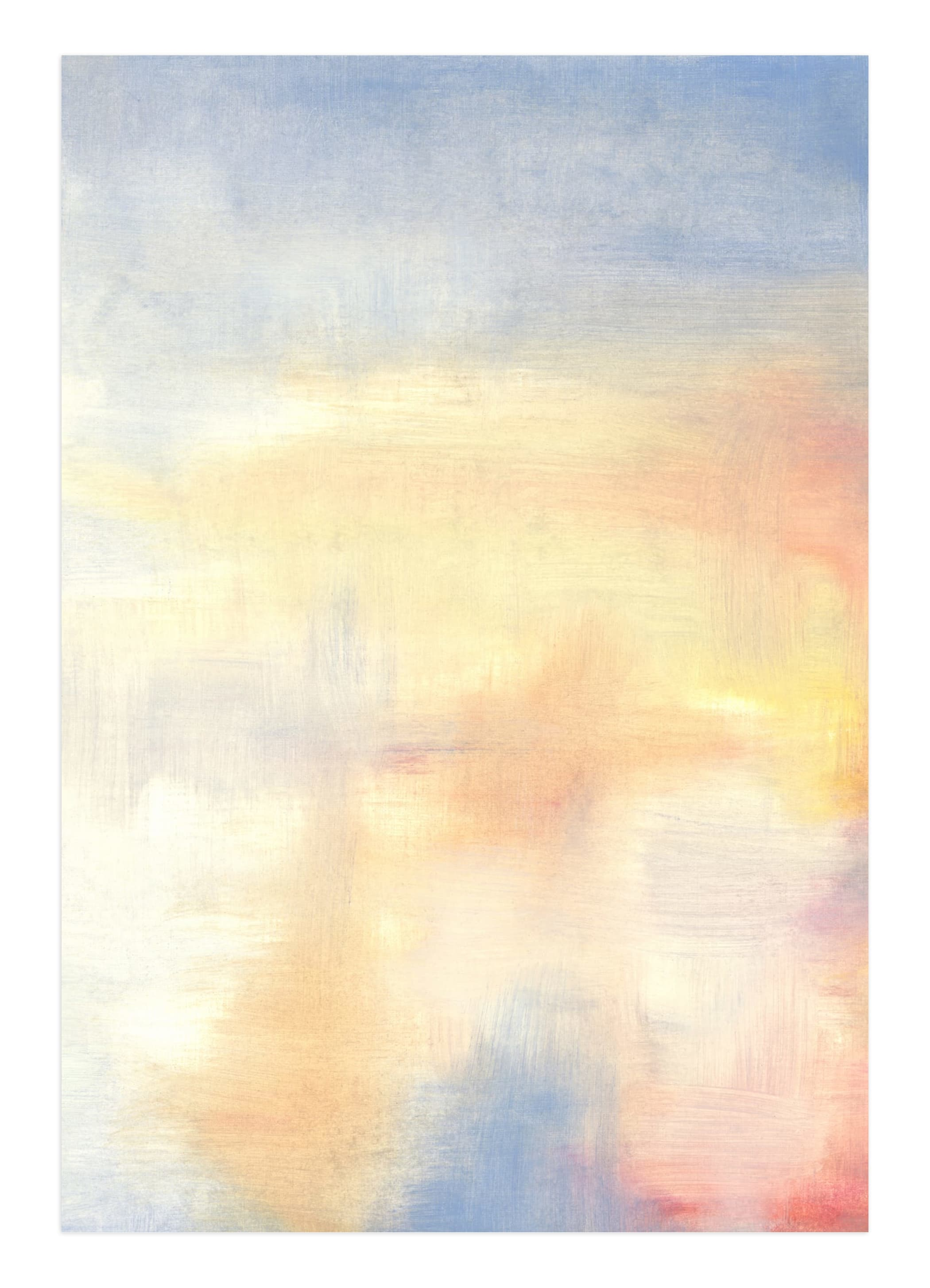 """""""Red Rising Sun 1"""" - Limited Edition Art Print by Susanne Kasielke in beautiful frame options and a variety of sizes."""