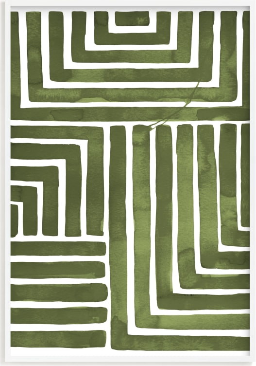 This is a green by Kristine Sarley called Hard & Soft.