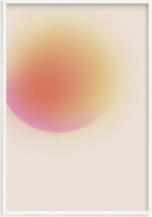 This is a yellow art by Maja Cunningham called new dawn.