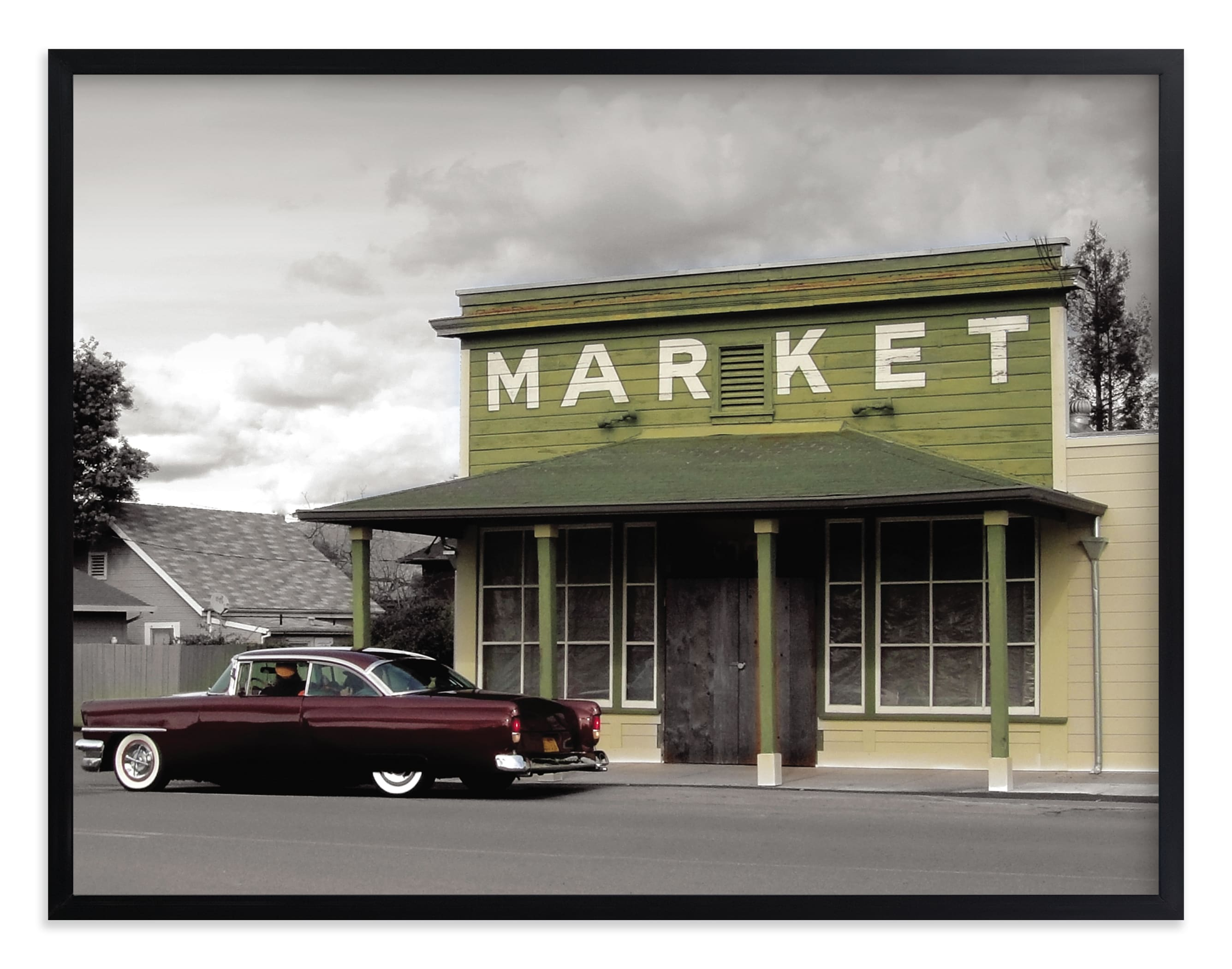 """""""Market"""" - Limited Edition Art Print by BeachPaperCo in beautiful frame options and a variety of sizes."""