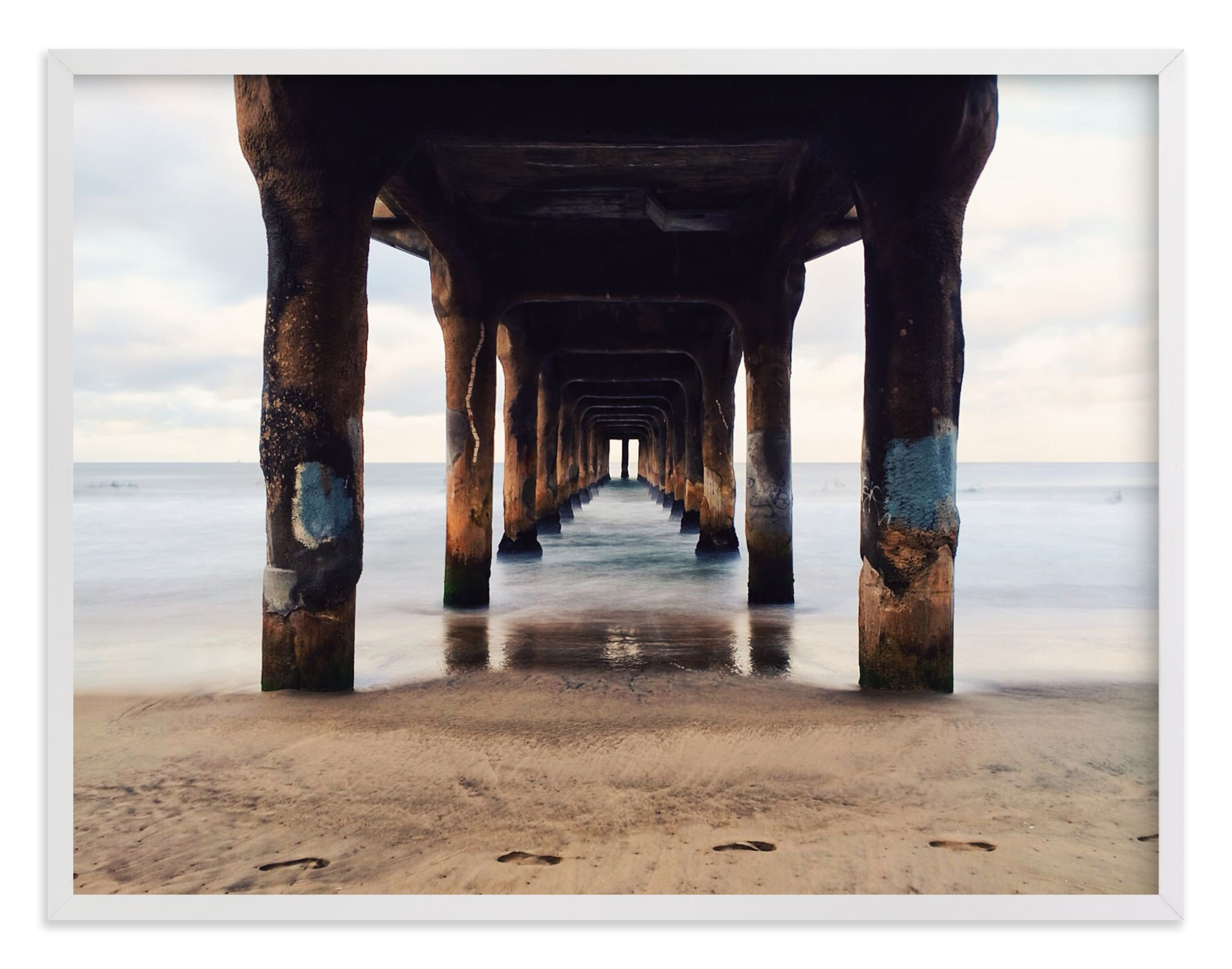 """""""Shoot the Pier"""" - Limited Edition Art Print by Christian Florin in beautiful frame options and a variety of sizes."""
