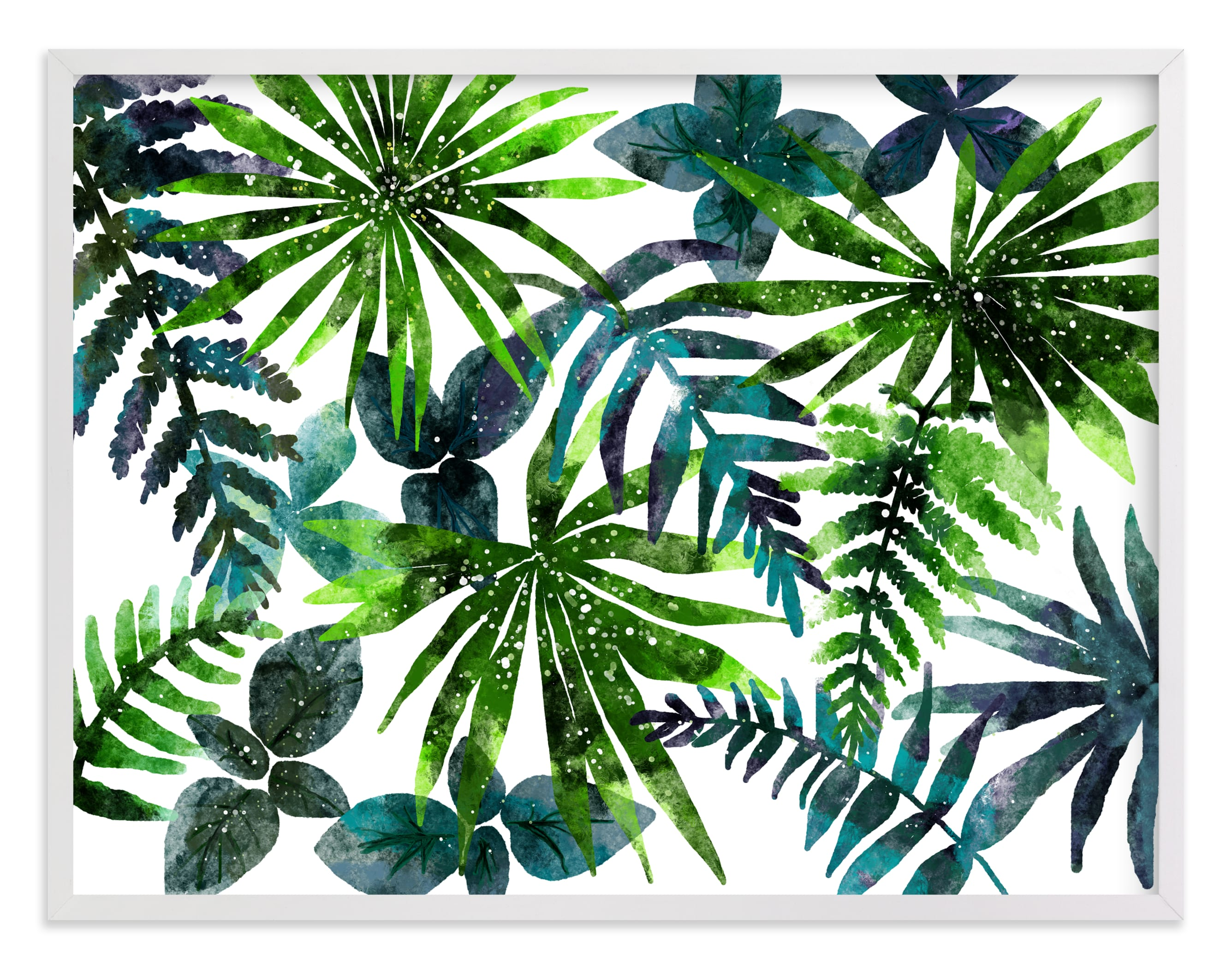 """""""rainforest"""" - Limited Edition Art Print by Cass Loh in beautiful frame options and a variety of sizes."""