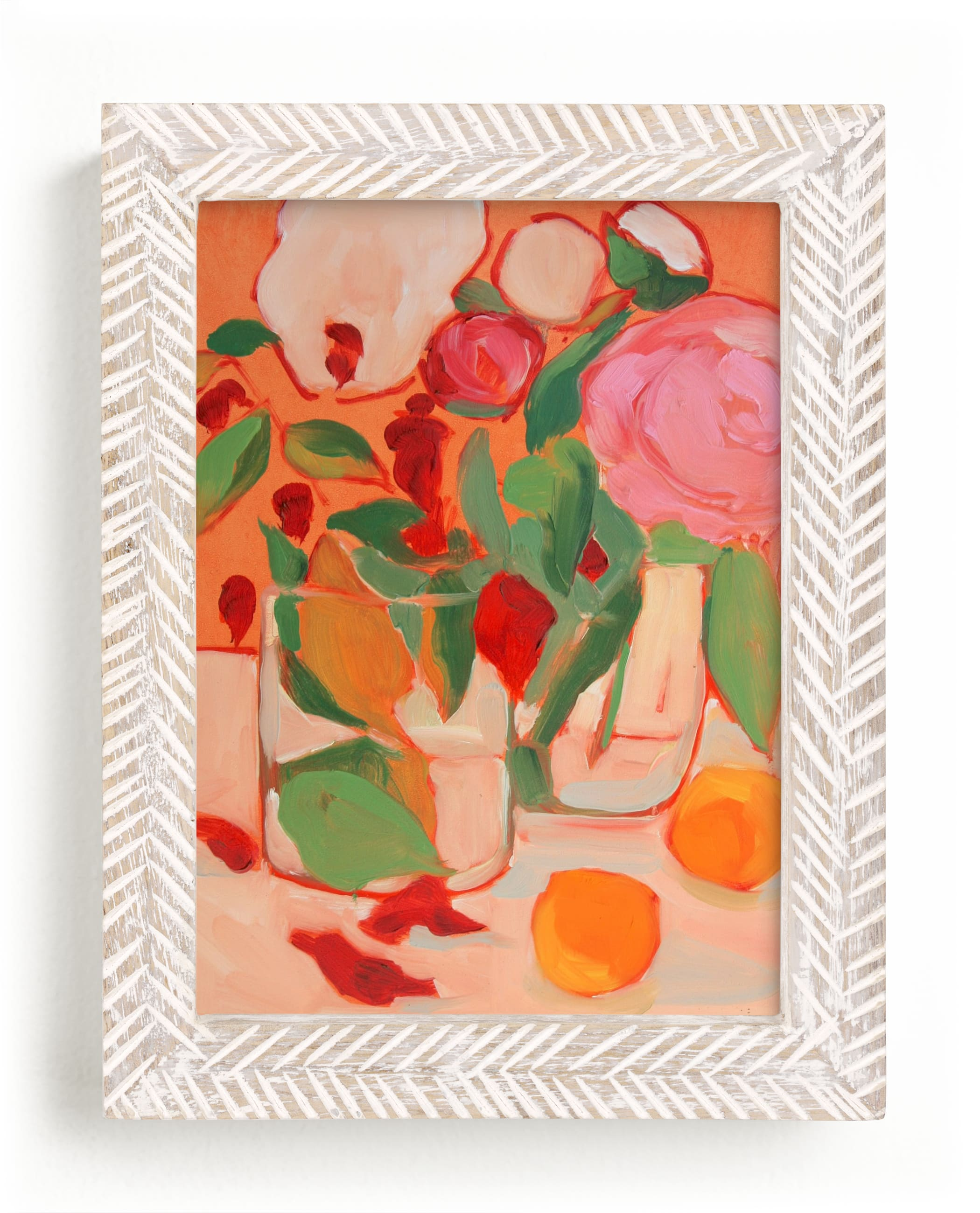 """Orange Flirt"" - Limited Edition Art Print by Lynne Millar in beautiful frame options and a variety of sizes."