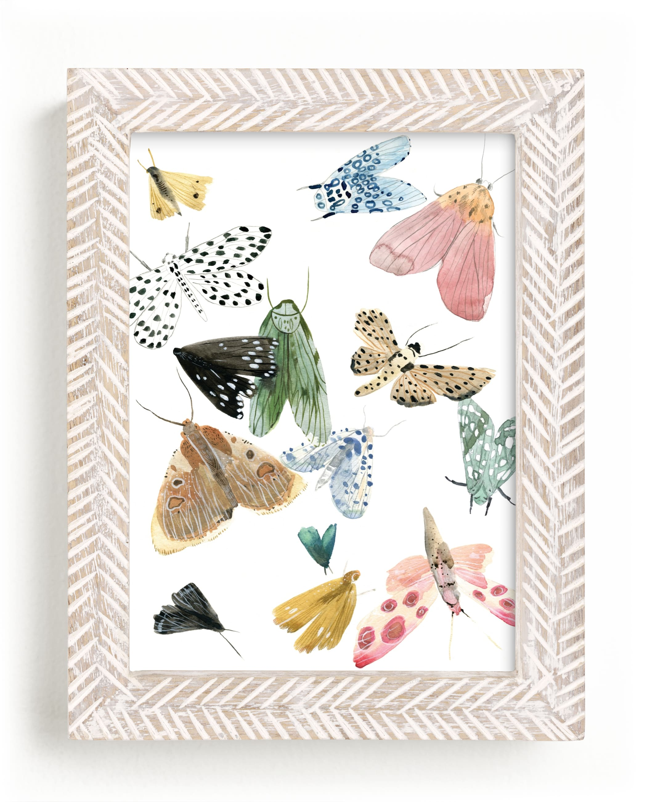 """Moths"" - Limited Edition Art Print by Emilie Simpson in beautiful frame options and a variety of sizes."