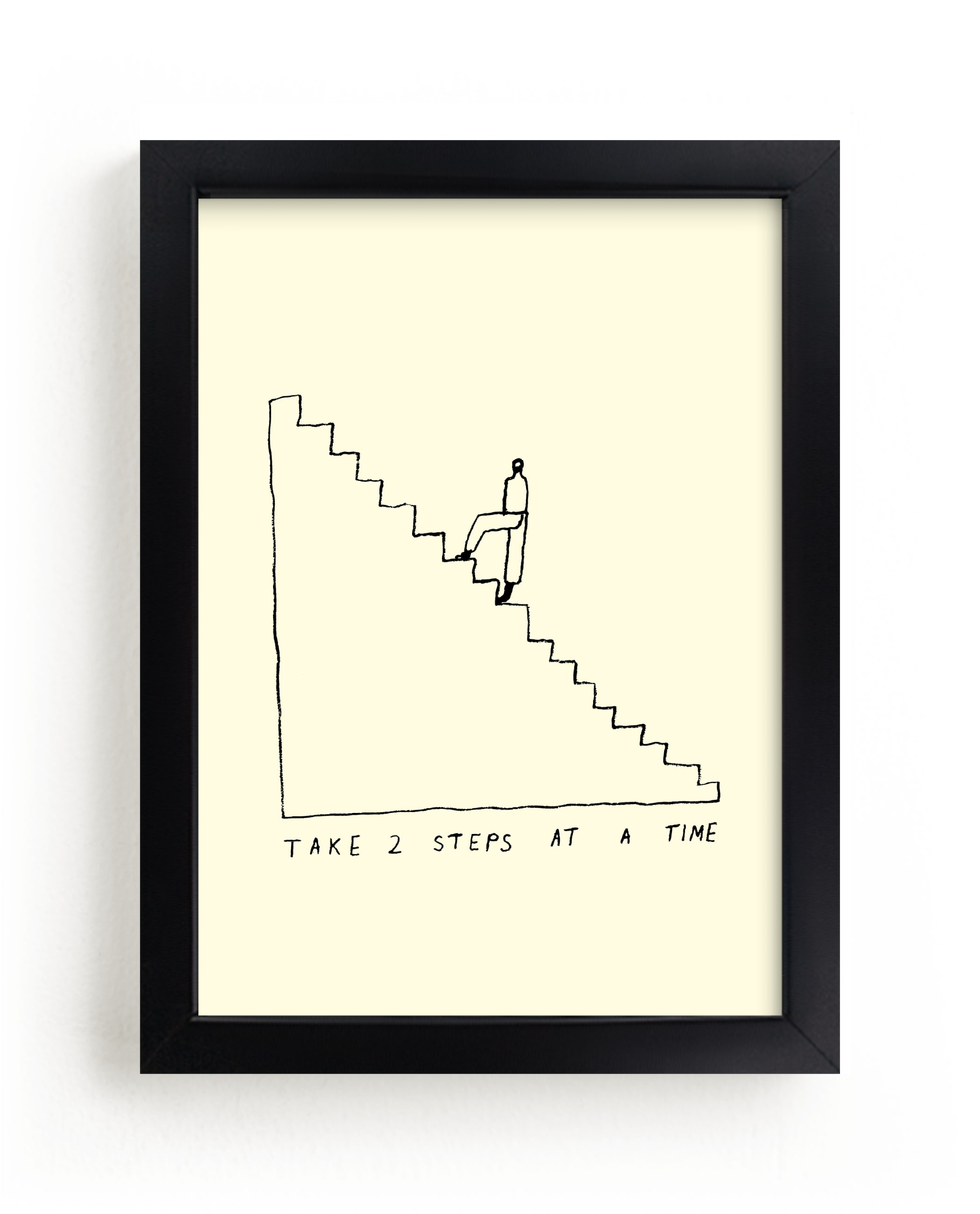 """""""Two Steps at a Time"""" - Limited Edition Art Print by Elliot Stokes in beautiful frame options and a variety of sizes."""