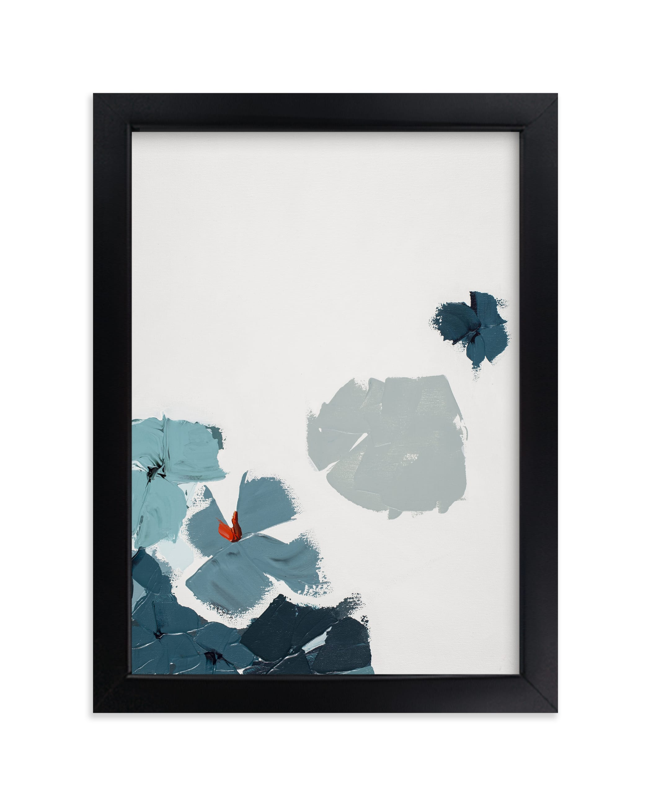 """""""Blue Garden Diptych I"""" - Limited Edition Art Print by Caryn Owen in beautiful frame options and a variety of sizes."""