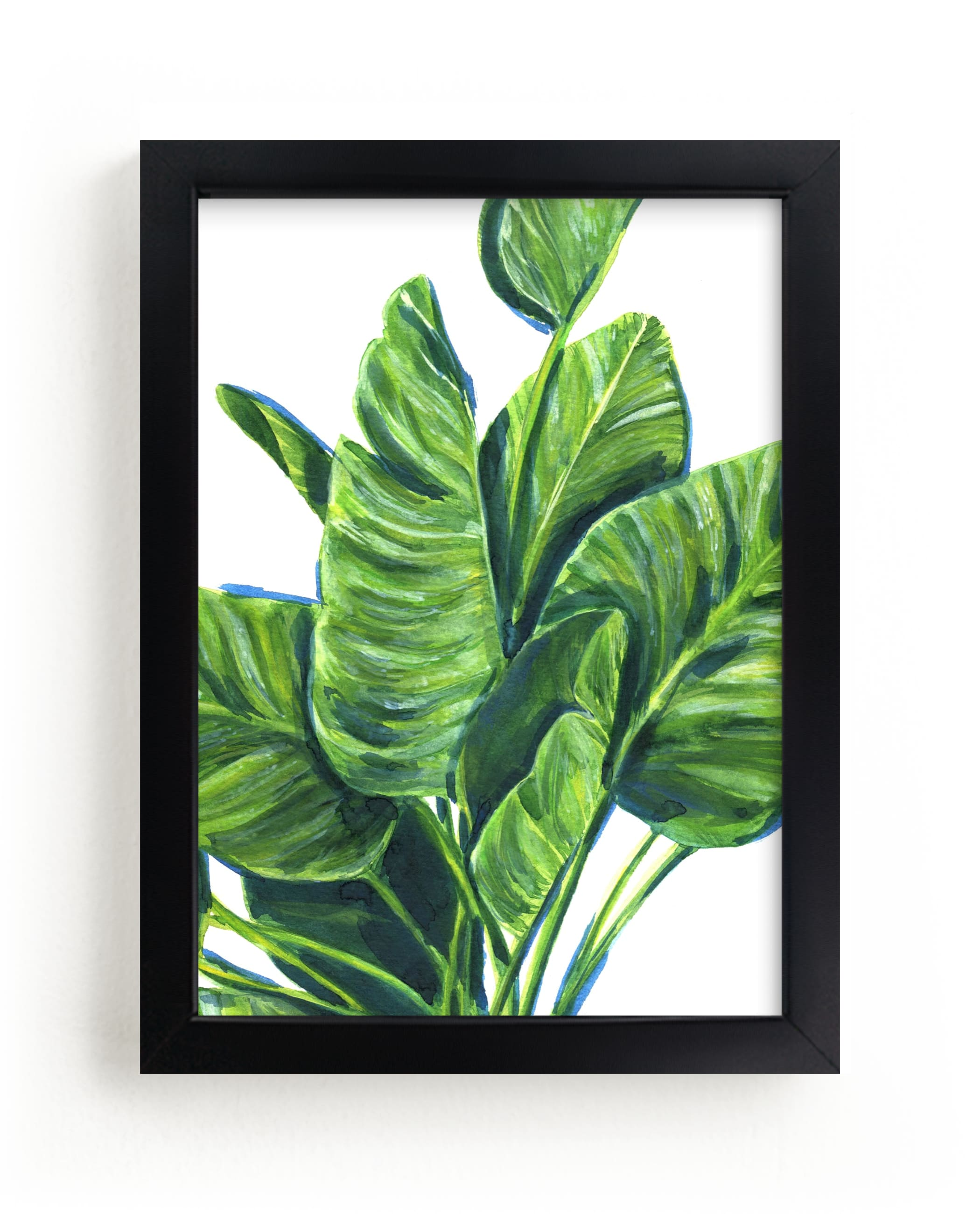 """""""Tropical plants II"""" - Limited Edition Art Print by Alexandra Dzh in beautiful frame options and a variety of sizes."""