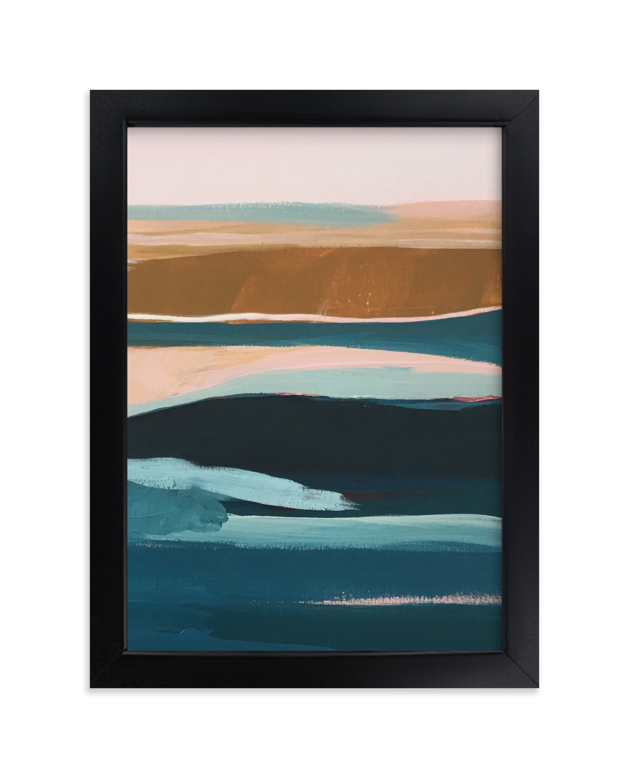 """""""Golden Seascape Diptych II"""" - Limited Edition Art Print by Caryn Owen in beautiful frame options and a variety of sizes."""