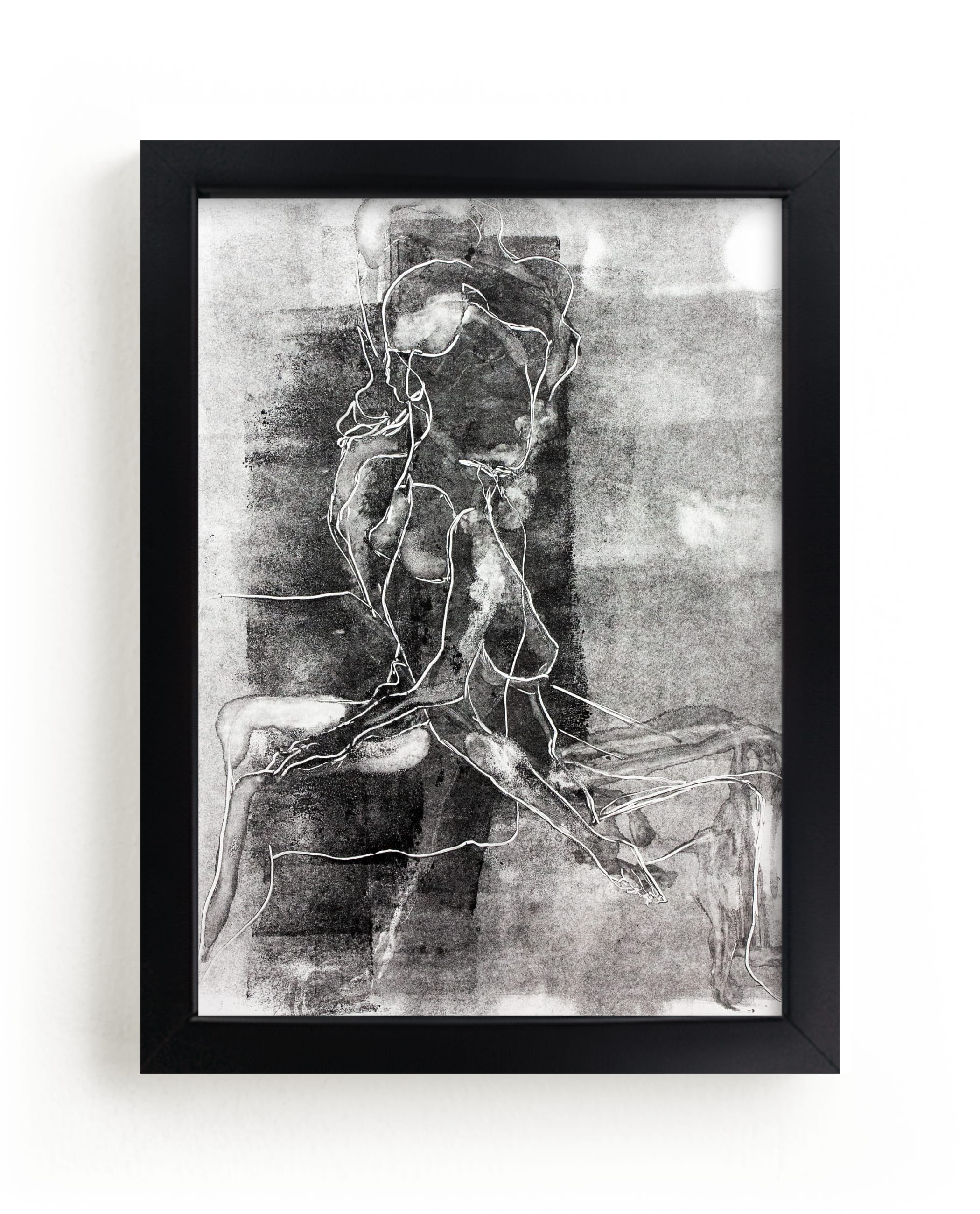 """""""Figure on Figure"""" - Limited Edition Art Print by Allison Belolan in beautiful frame options and a variety of sizes."""