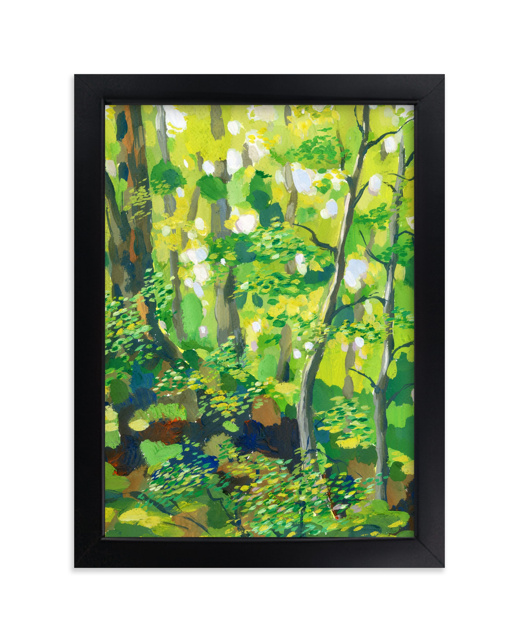"""""""Green forest"""" - Limited Edition Art Print by Alexandra Dzh in beautiful frame options and a variety of sizes."""