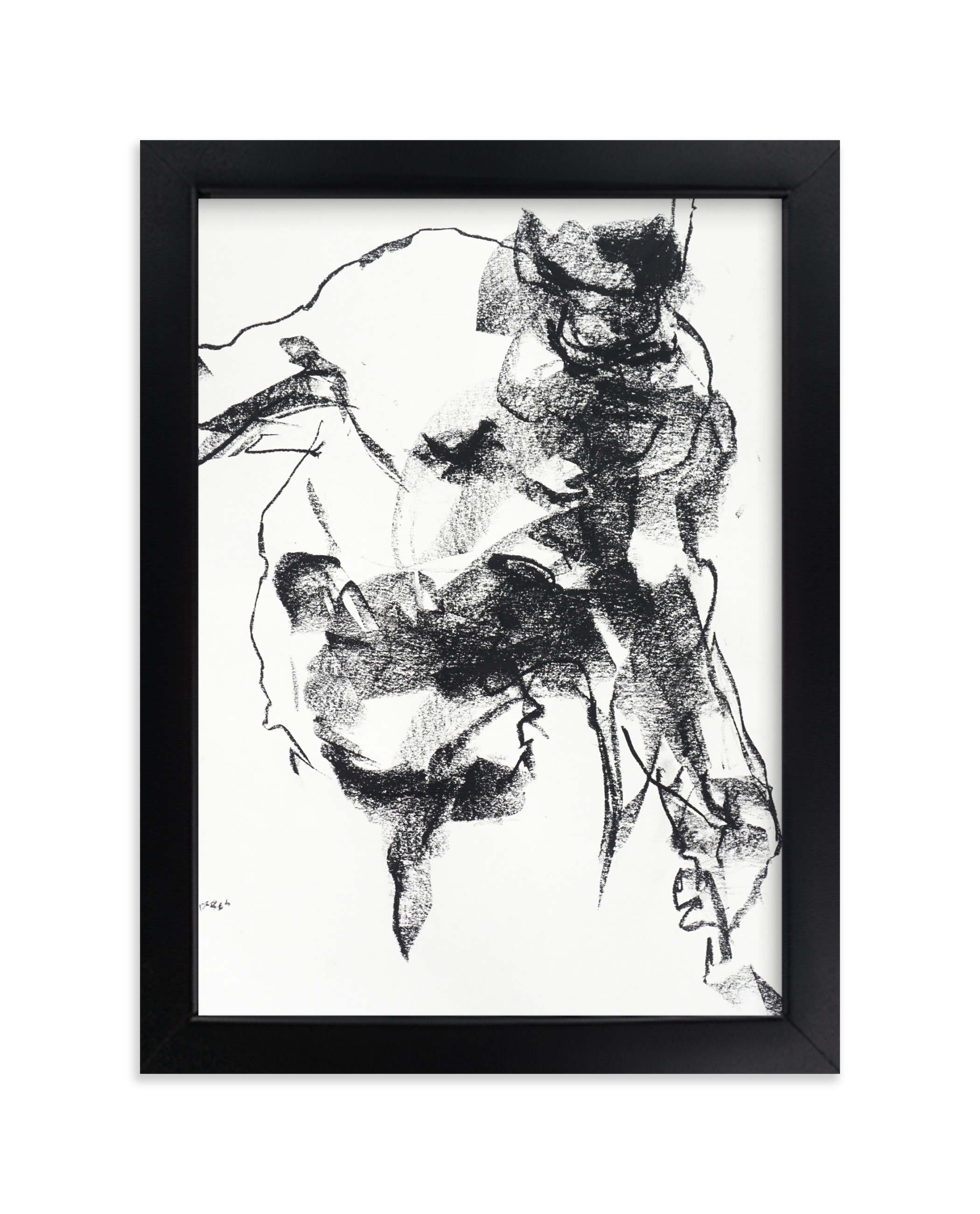 """Drawing 264 - Gesturing Man"" - Limited Edition Art Print by Derek overfield in beautiful frame options and a variety of sizes."