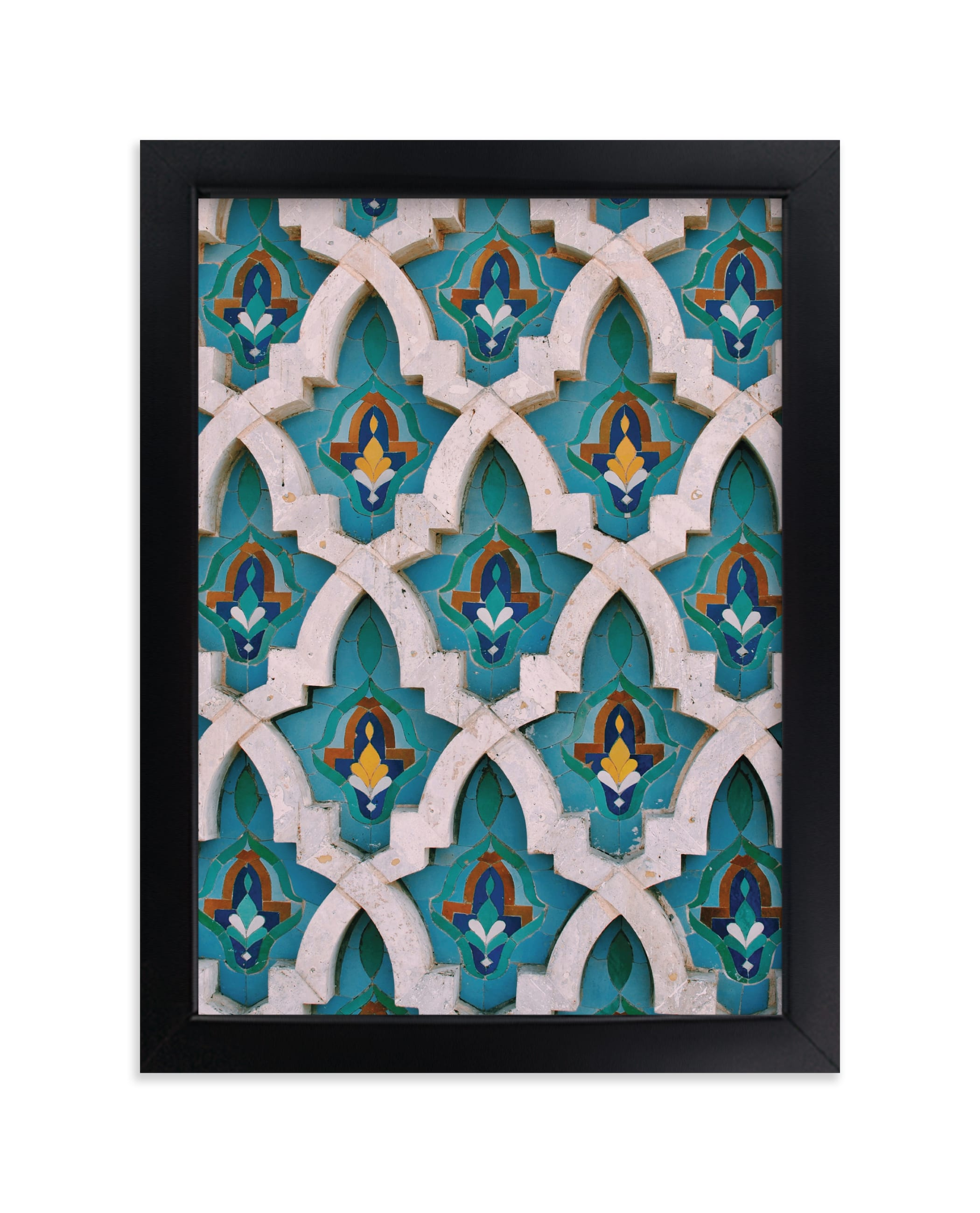 """""""King Hassan Tiles"""" - Limited Edition Art Print by Alannah Kittle in beautiful frame options and a variety of sizes."""
