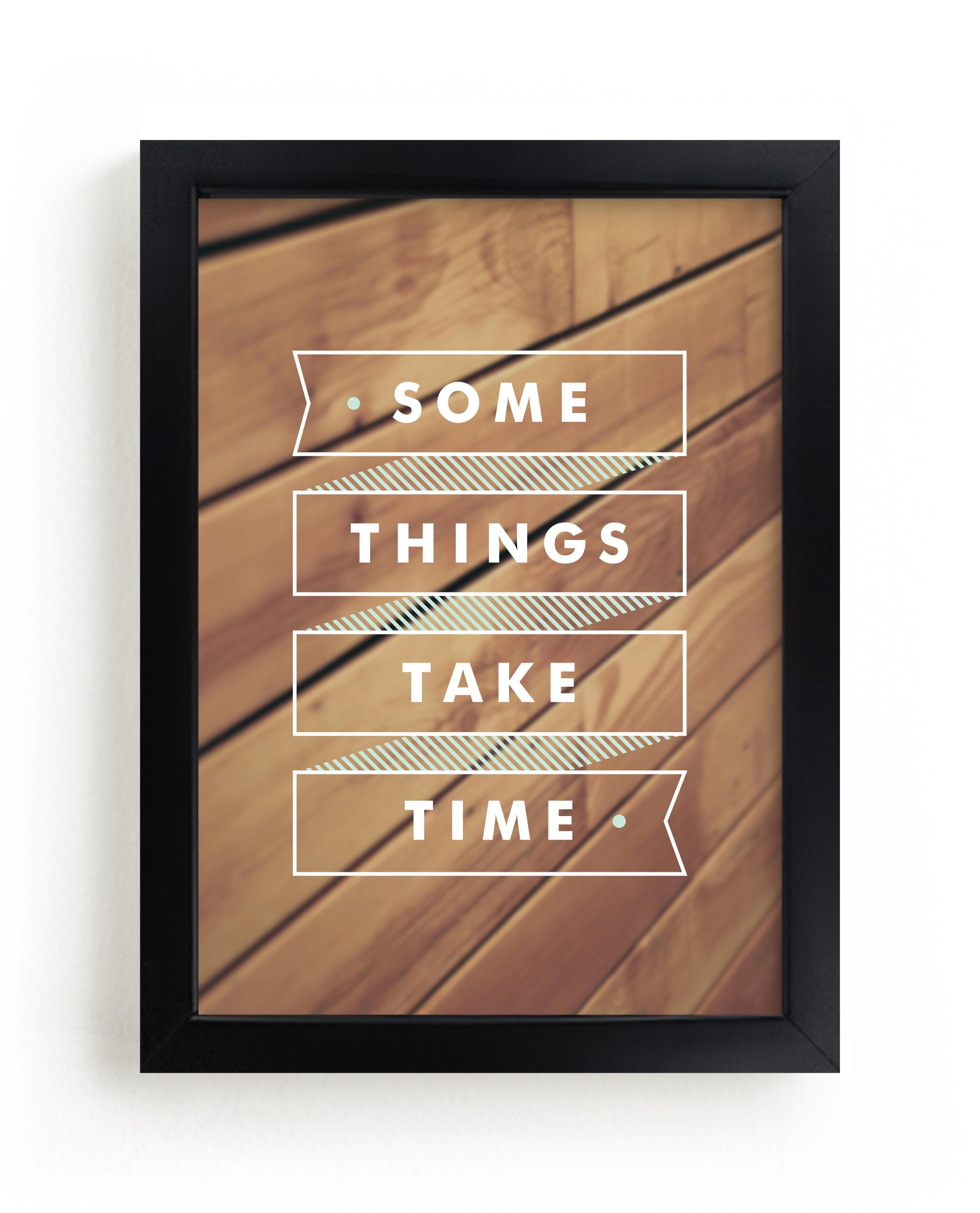 """""""Some Things Take Time"""" - Limited Edition Art Print by Monica Tuazon in beautiful frame options and a variety of sizes."""