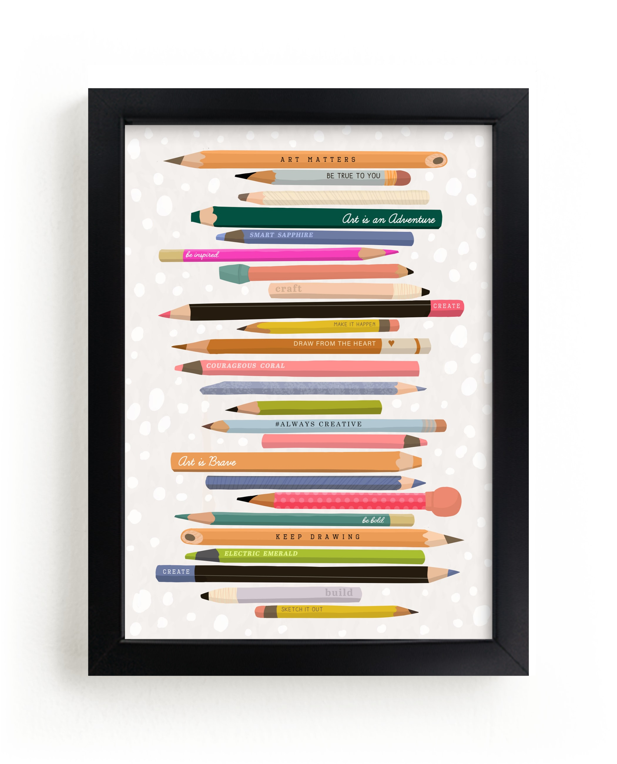 """""""Always Be Creative"""" - Limited Edition Art Print by Naava Katz in beautiful frame options and a variety of sizes."""
