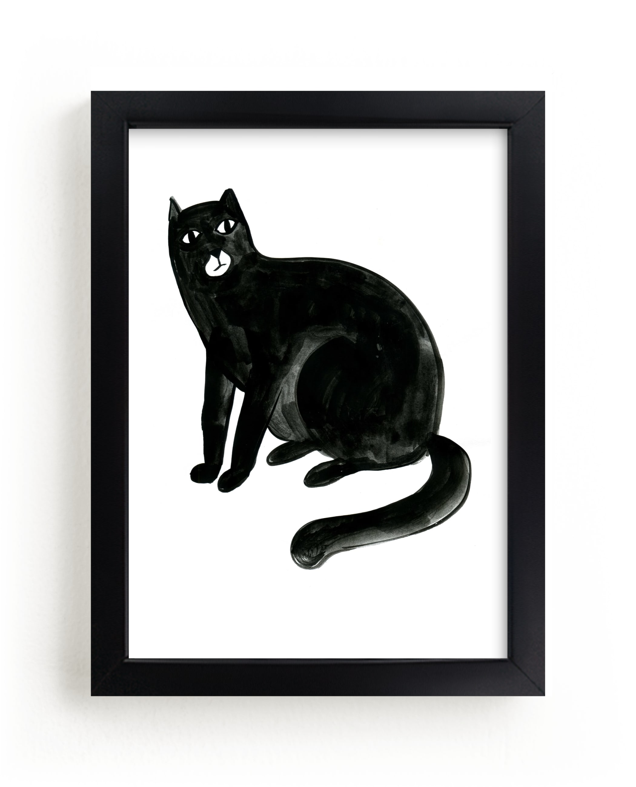 """""""Graphic cat"""" - Limited Edition Art Print by Alexandra Dzh in beautiful frame options and a variety of sizes."""
