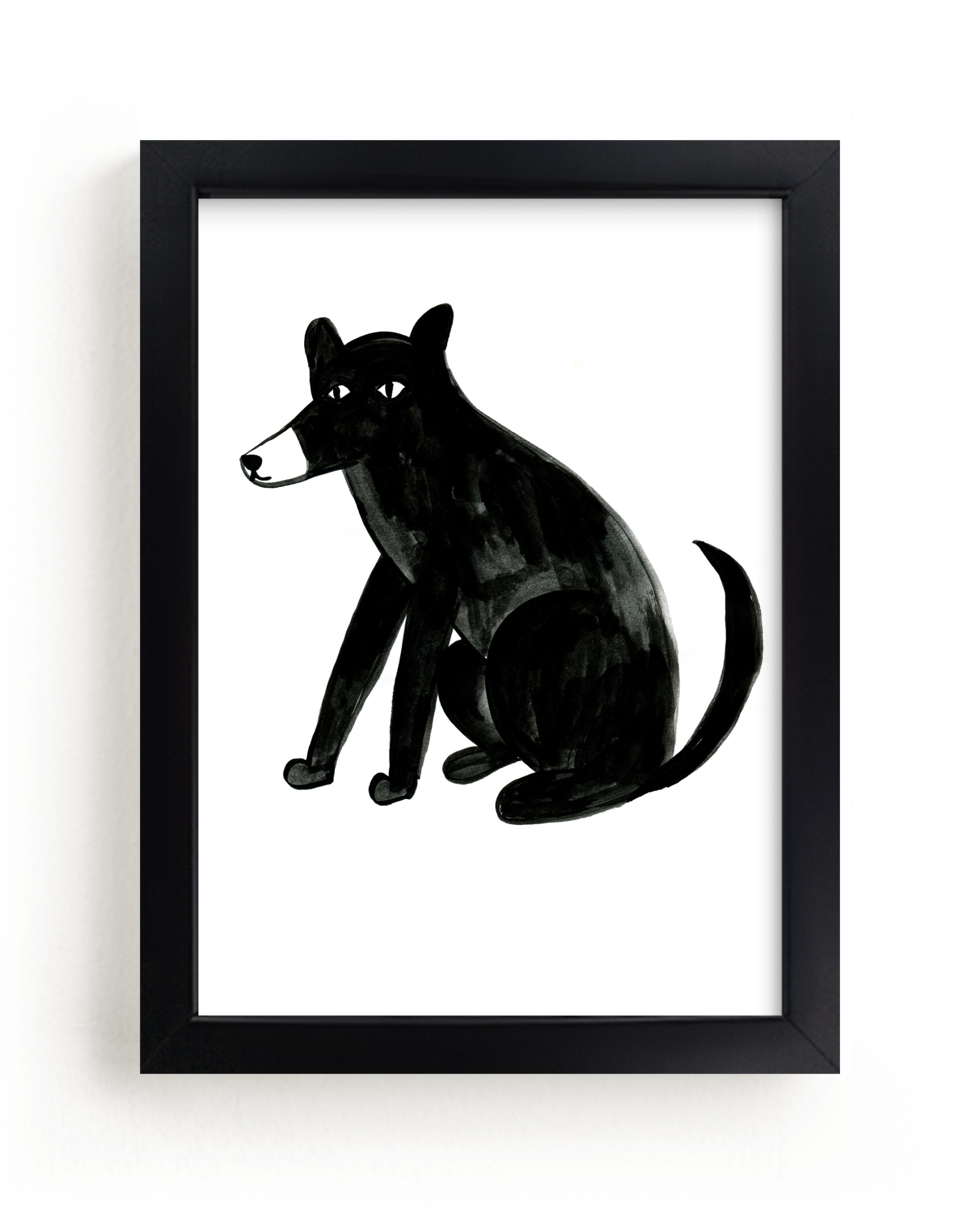 """""""dog"""" - Limited Edition Art Print by Alexandra Dzh in beautiful frame options and a variety of sizes."""