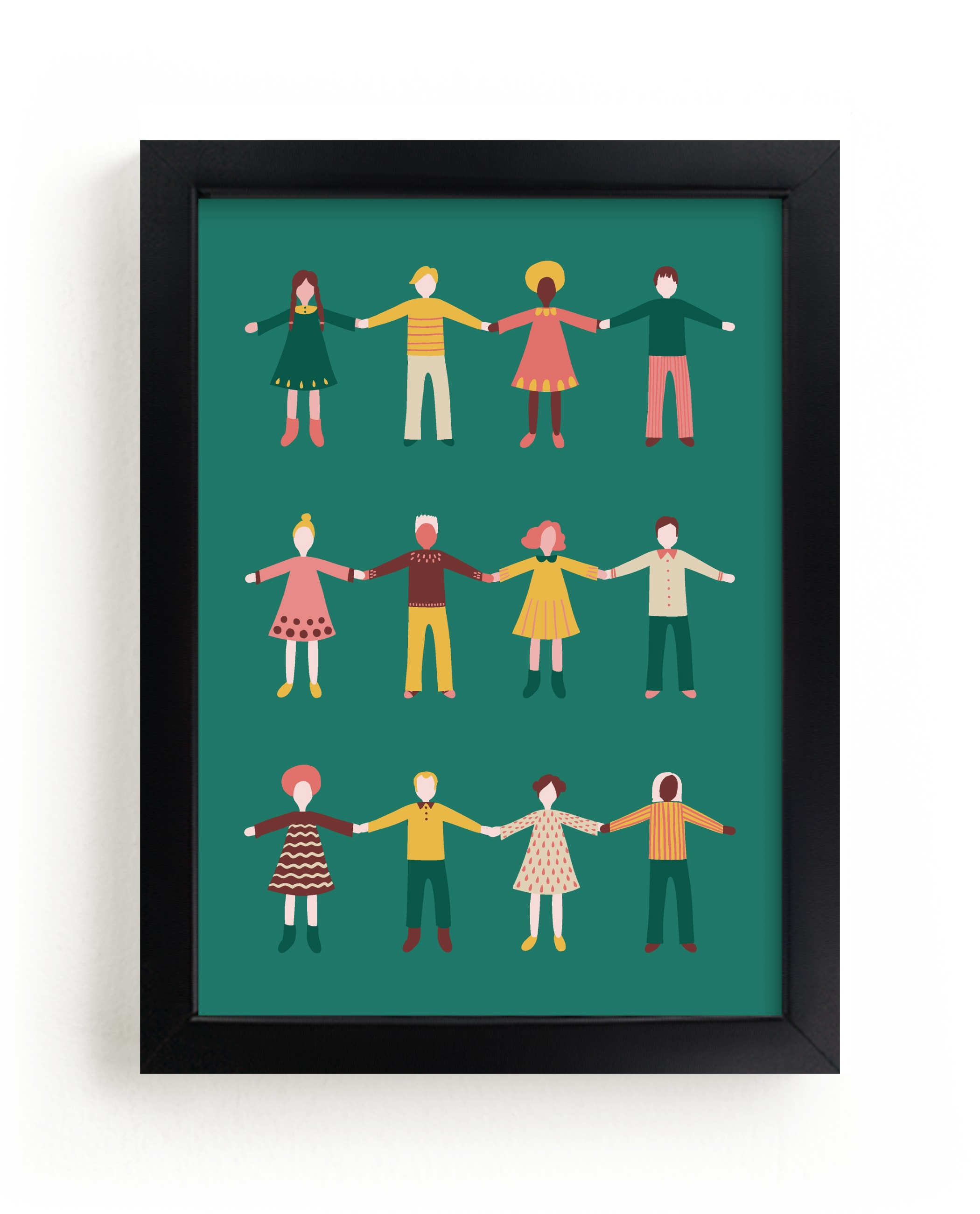 """""""Happy People"""" - Limited Edition Art Print by Nieves Herranz in beautiful frame options and a variety of sizes."""