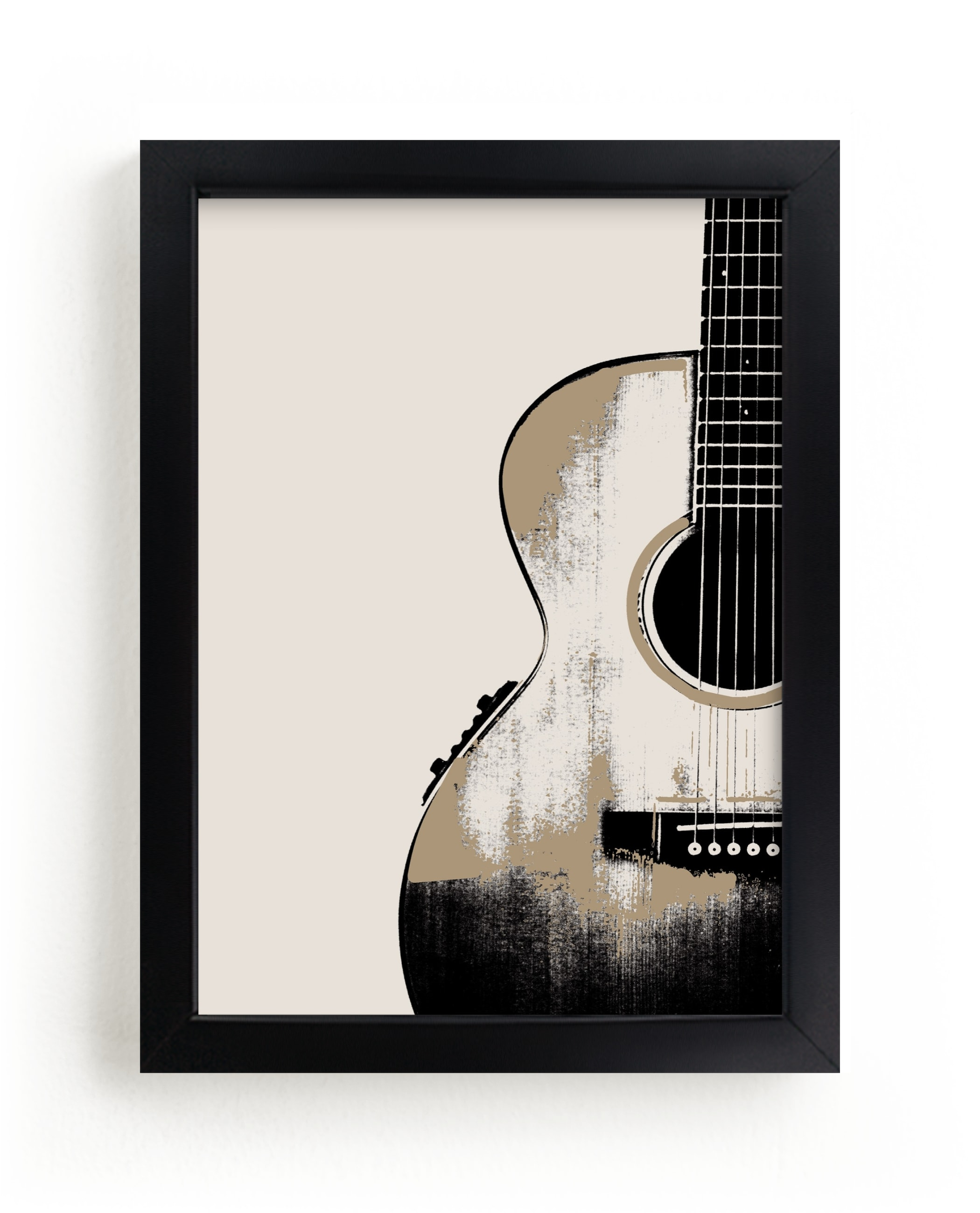 """""""Acoustic"""" - Limited Edition Art Print by Char-Lynn Griffiths in beautiful frame options and a variety of sizes."""
