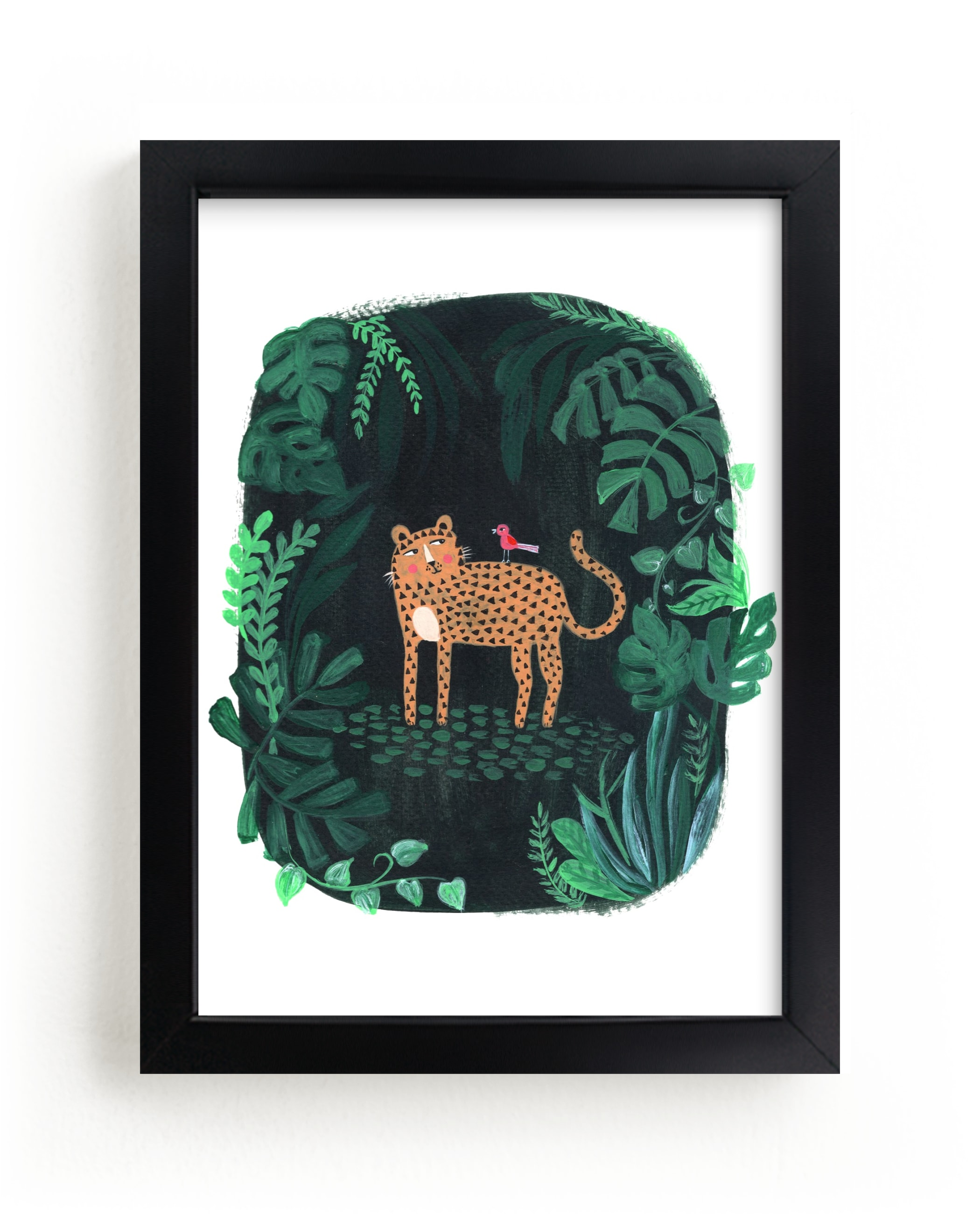 """""""Wild Cat"""" - Limited Edition Art Print by Nikita Jariwala in beautiful frame options and a variety of sizes."""