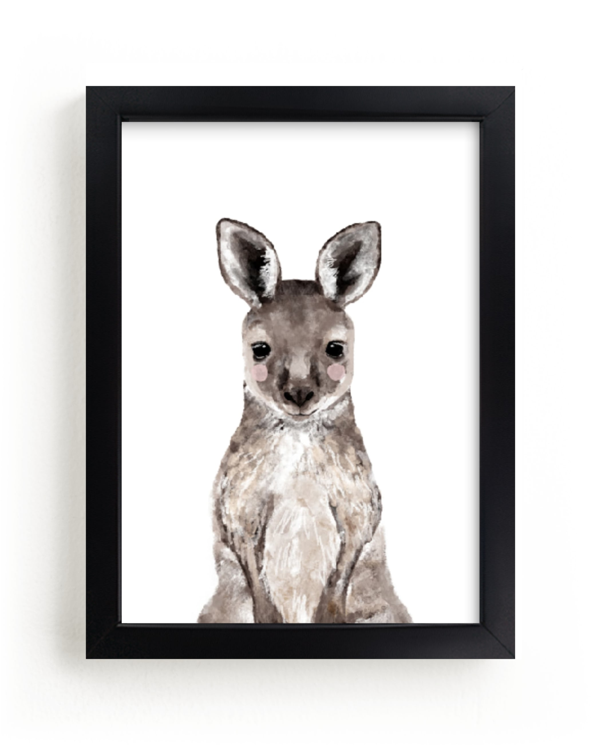 """""""Baby Kangaroo"""" by Cass Loh in beautiful frame options and a variety of sizes."""