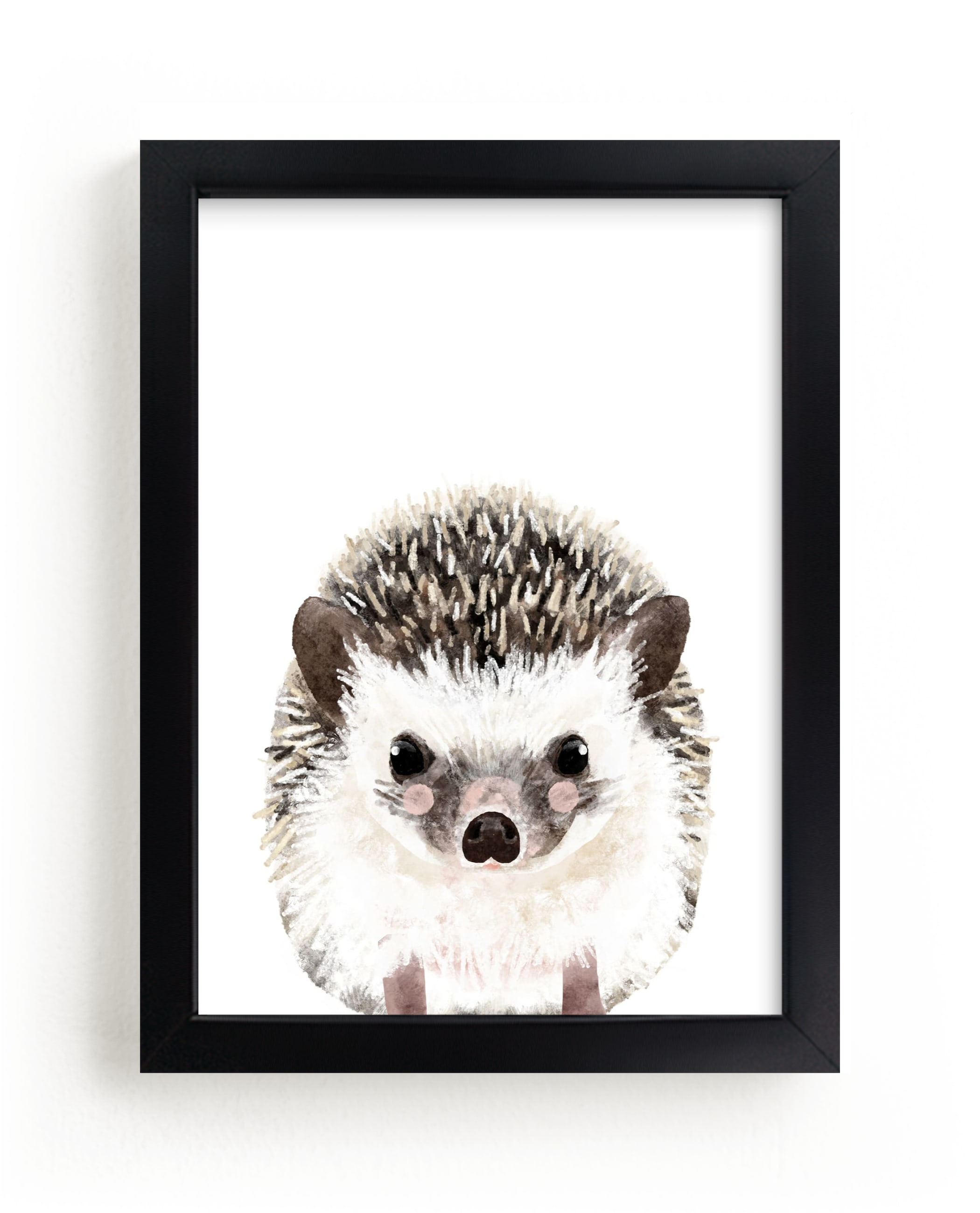 """""""Baby Hedgehog"""" by Cass Loh in beautiful frame options and a variety of sizes."""