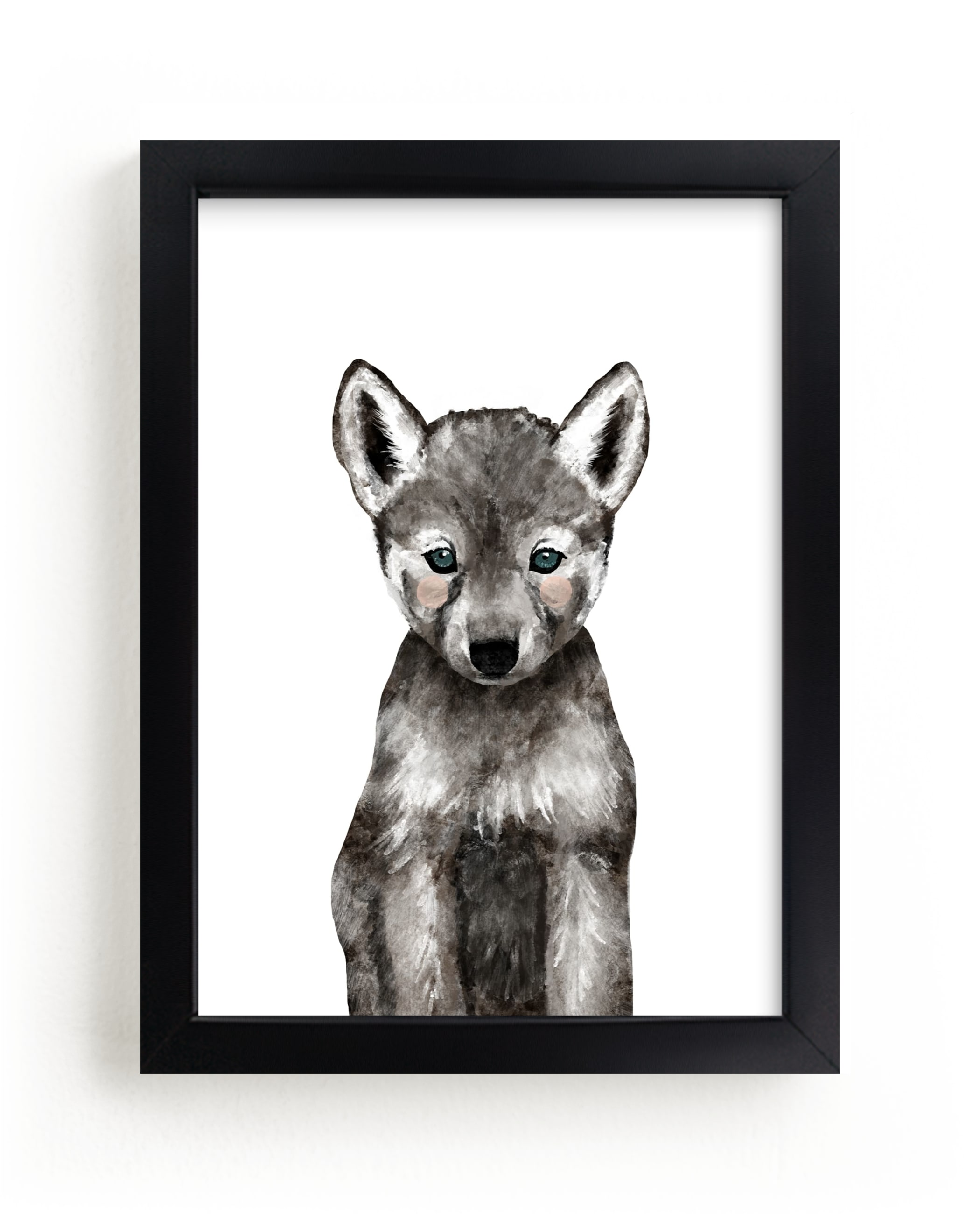"""""""Baby Animal Wolf"""" - Art Print by Cass Loh in beautiful frame options and a variety of sizes."""