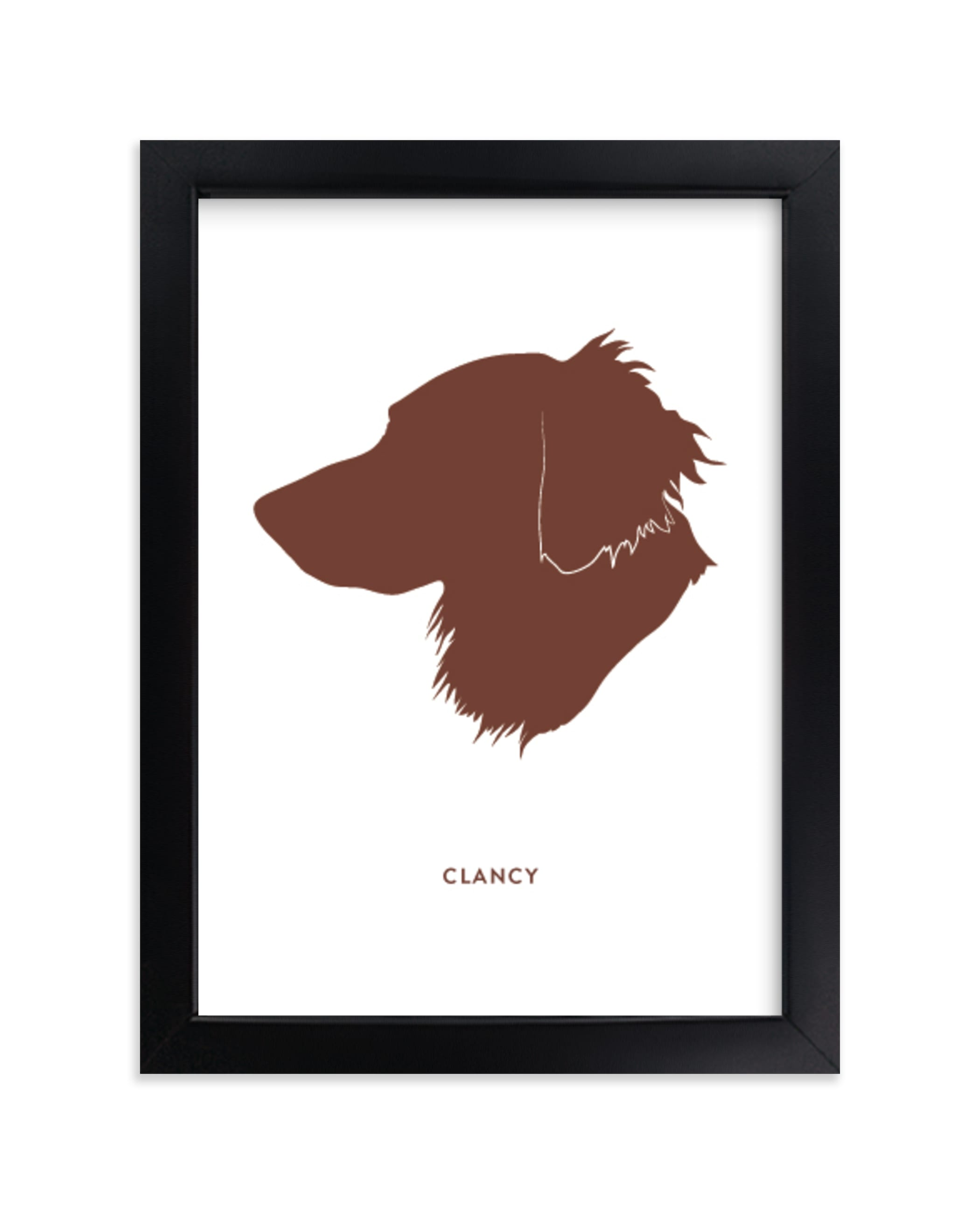 """Custom Pet Silhouette Art"" - Silhouette Digital Art by Minted in beautiful frame options and a variety of sizes."