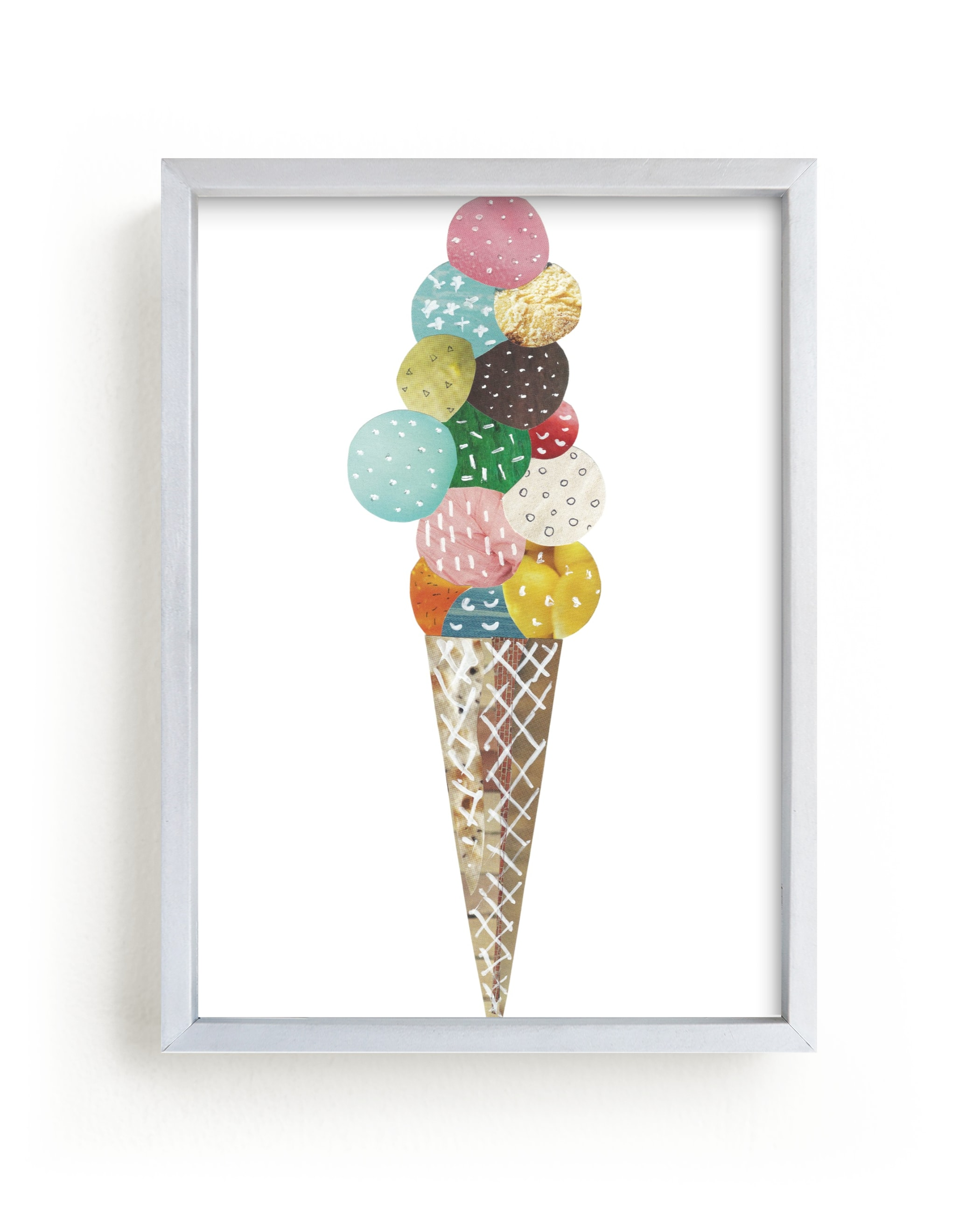 """""""Ice Cream"""" - Limited Edition Art Print by Aiko Poole in beautiful frame options and a variety of sizes."""